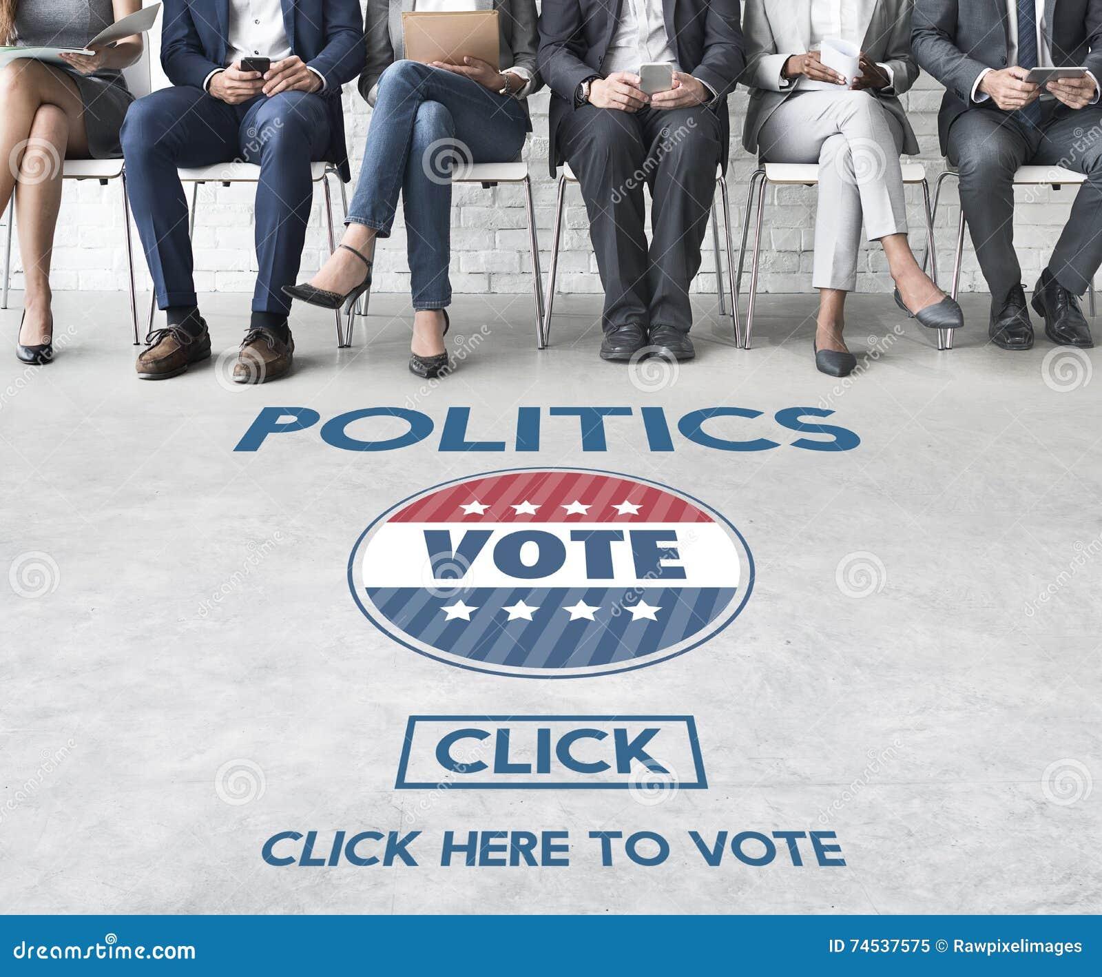 Conceito do partido do governo da eleição do voto da política