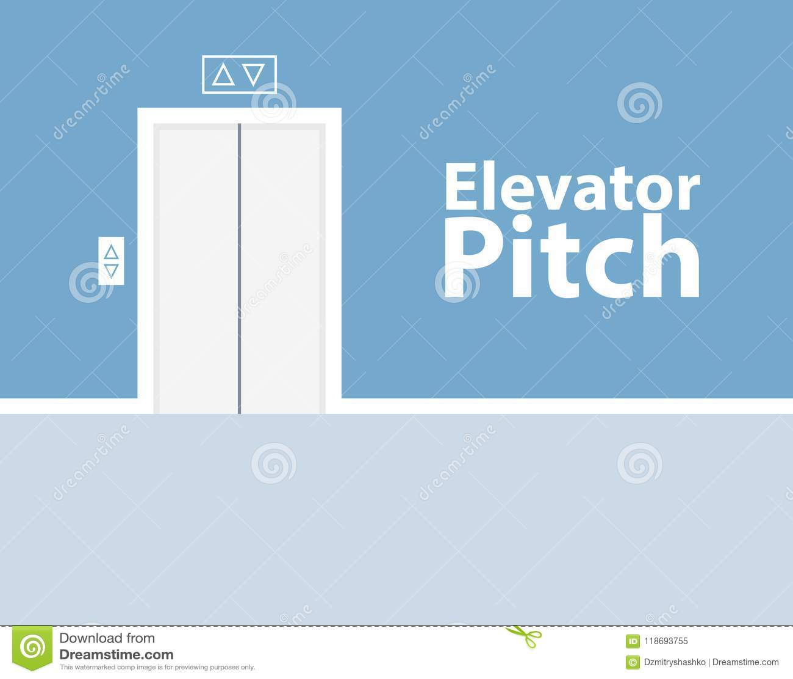 Conceito do passo do elevador