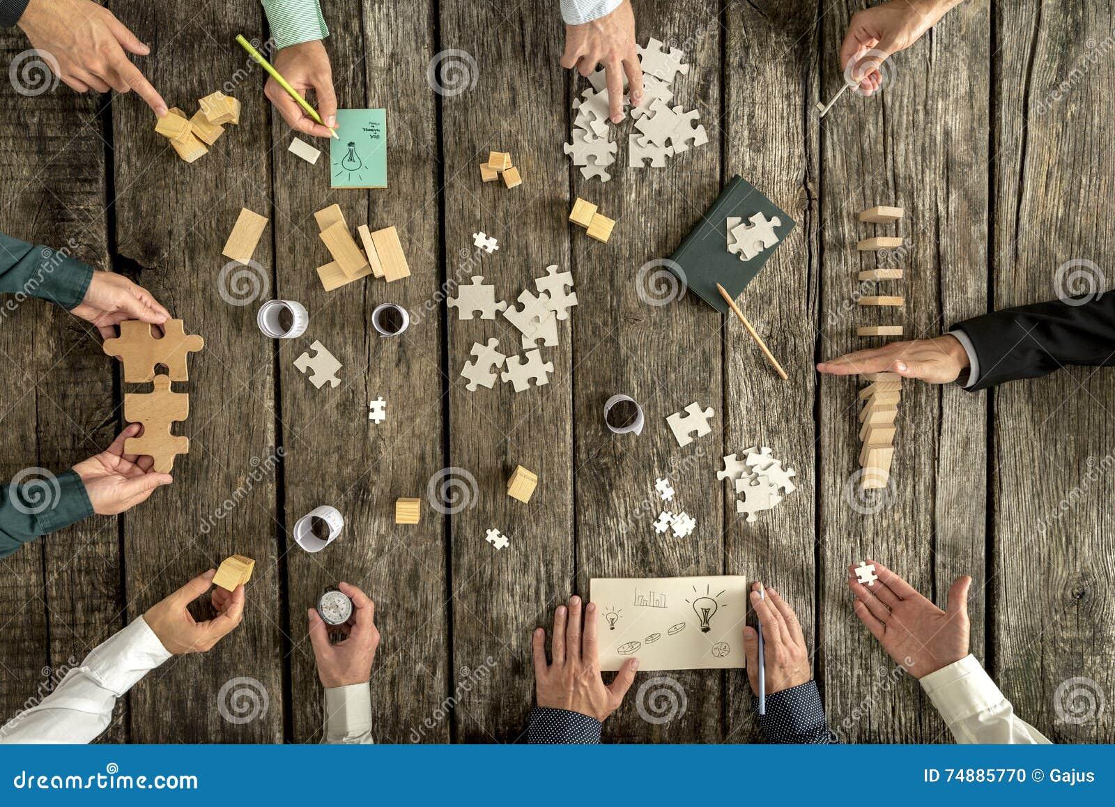 Conceito do planeamento empresarial e da sessão de reflexão