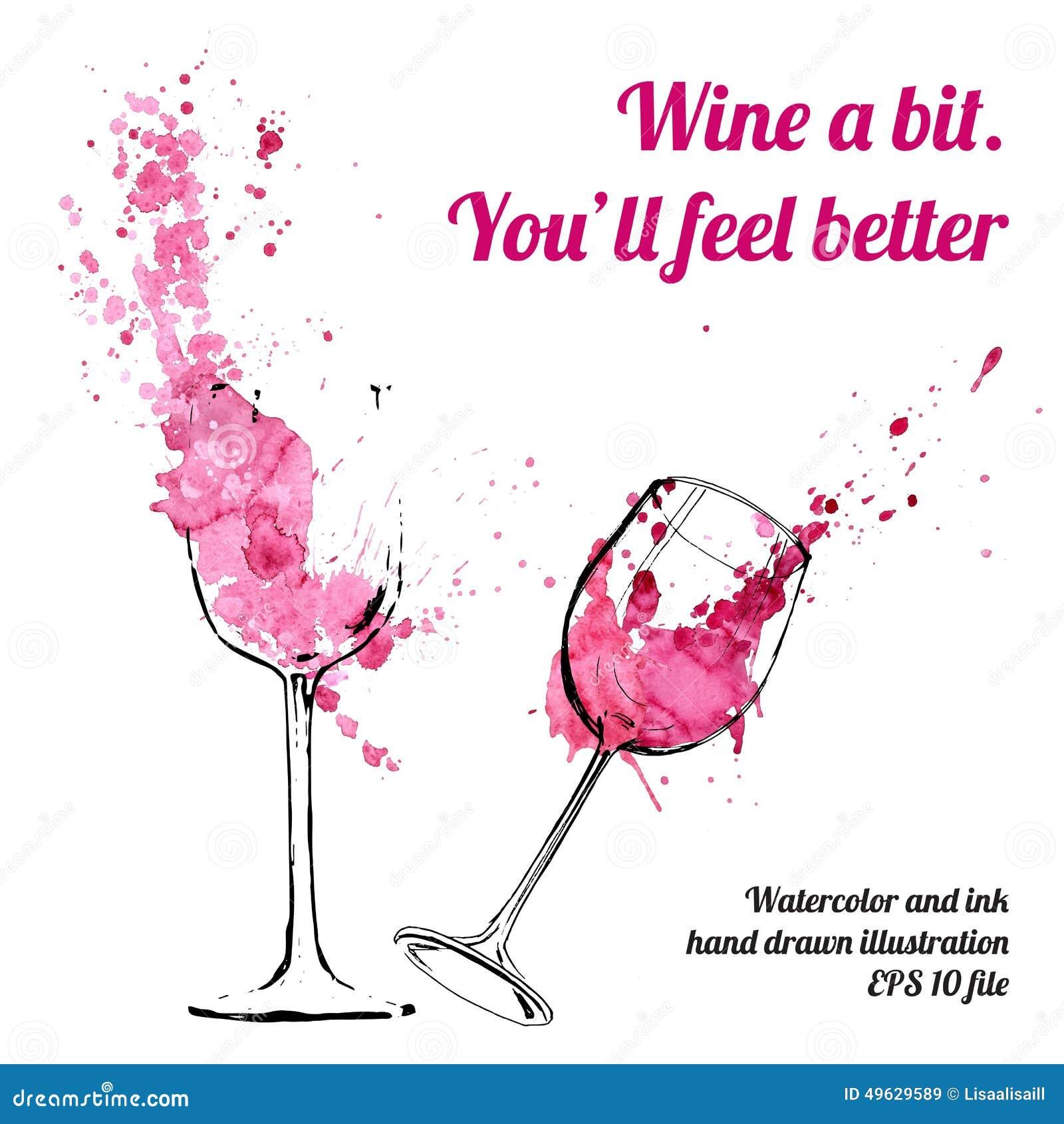 Conceito do respingo e das manchas do vinho