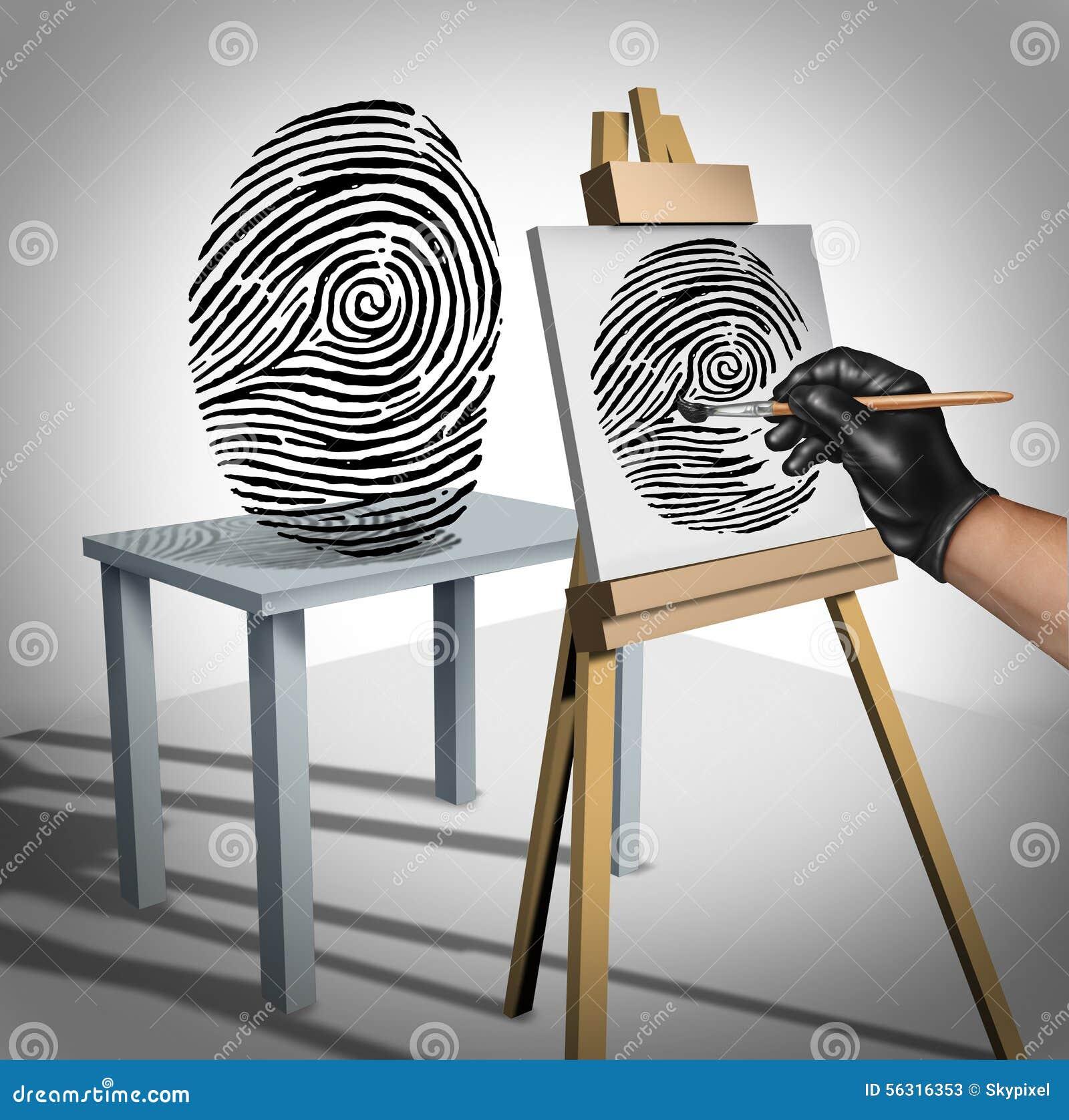 Conceito do roubo de identidade