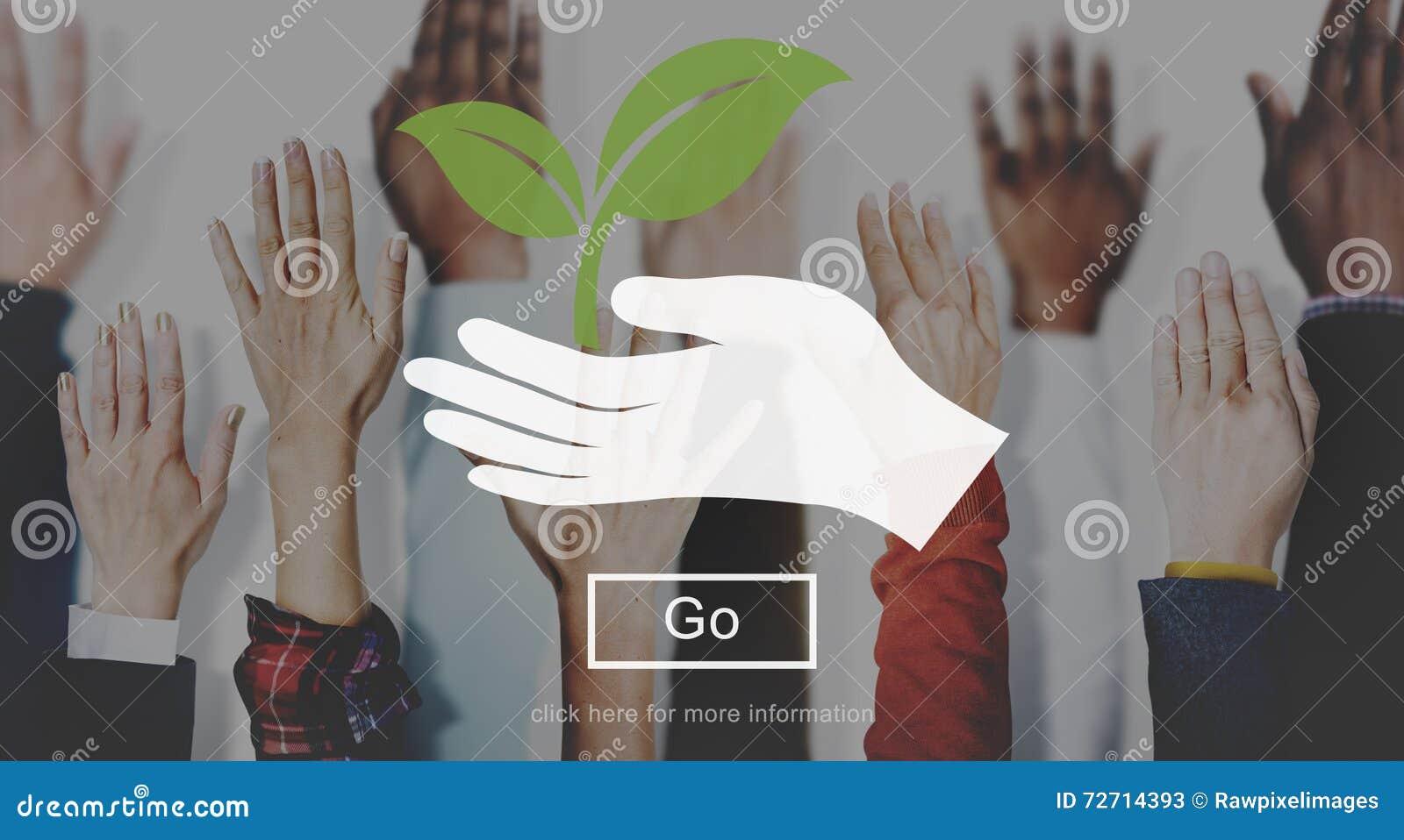 Conceito do salvar vidas da planta da natureza do ambiente