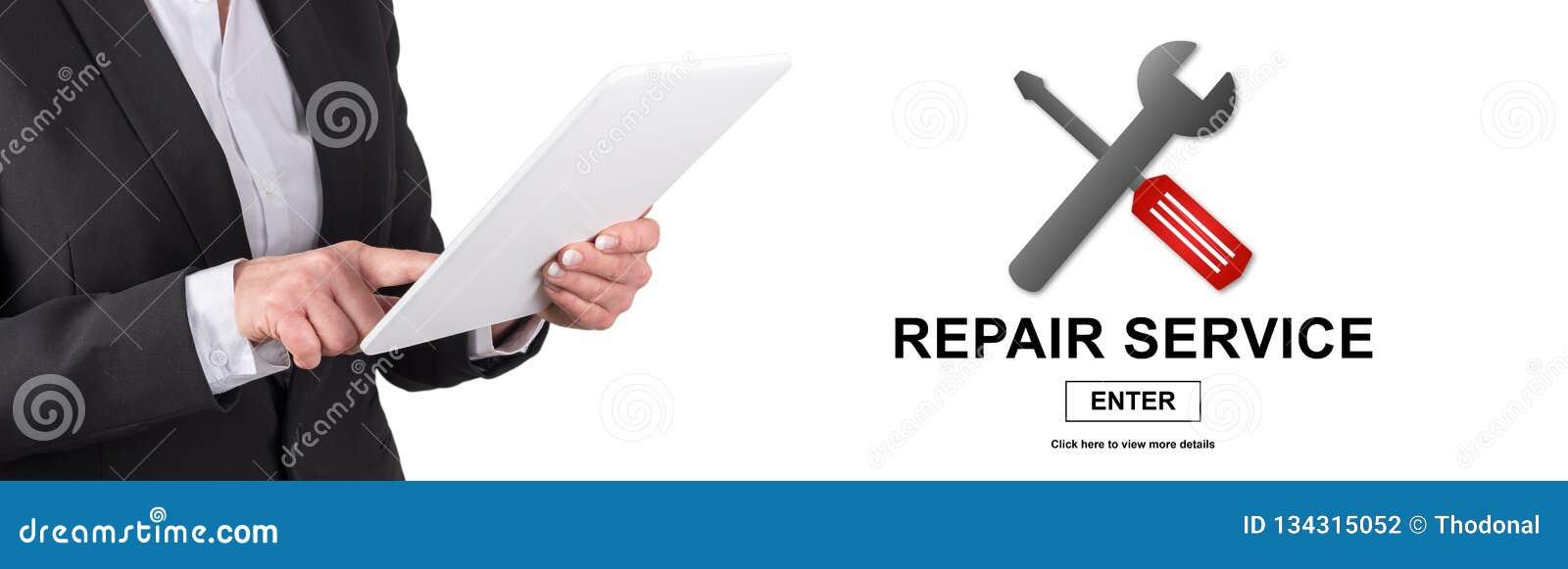 Conceito do serviço de reparações