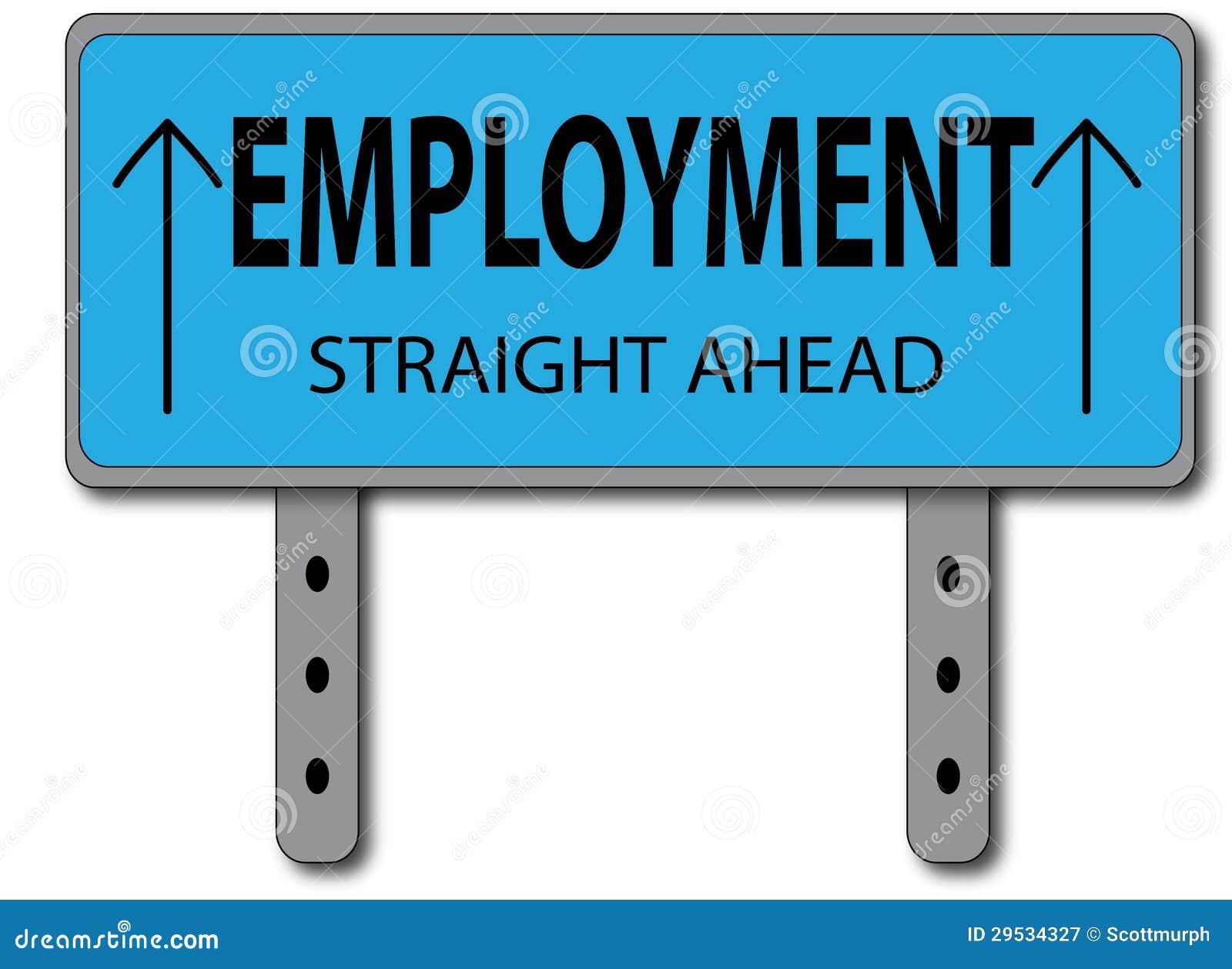 Conceito do sinal do emprego