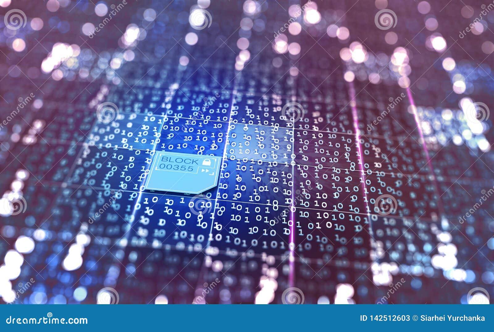 Conceito do sumário do Cyberspace ilustração 3D em um fundo digital