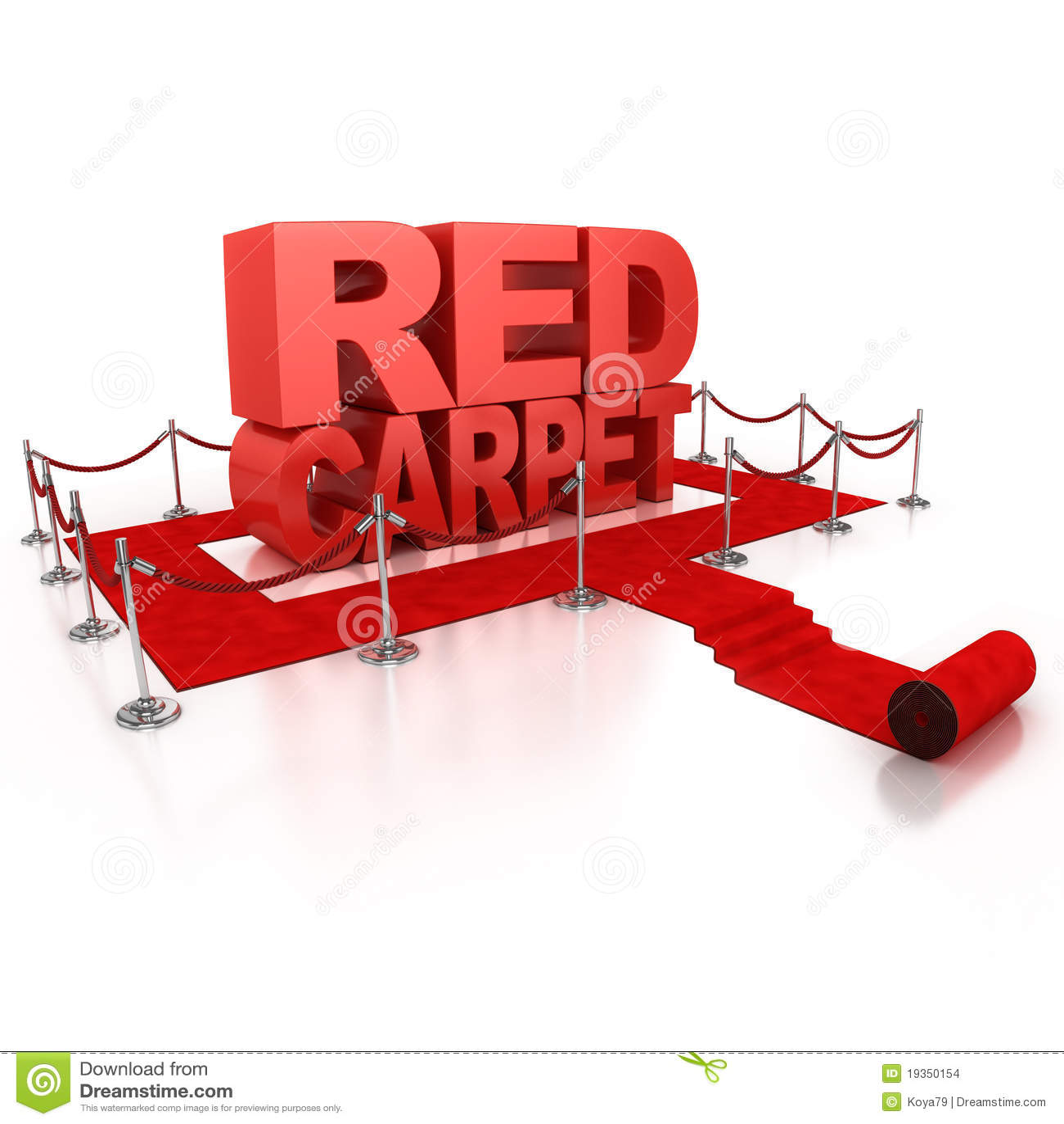 Conceito do tapete vermelho 3d