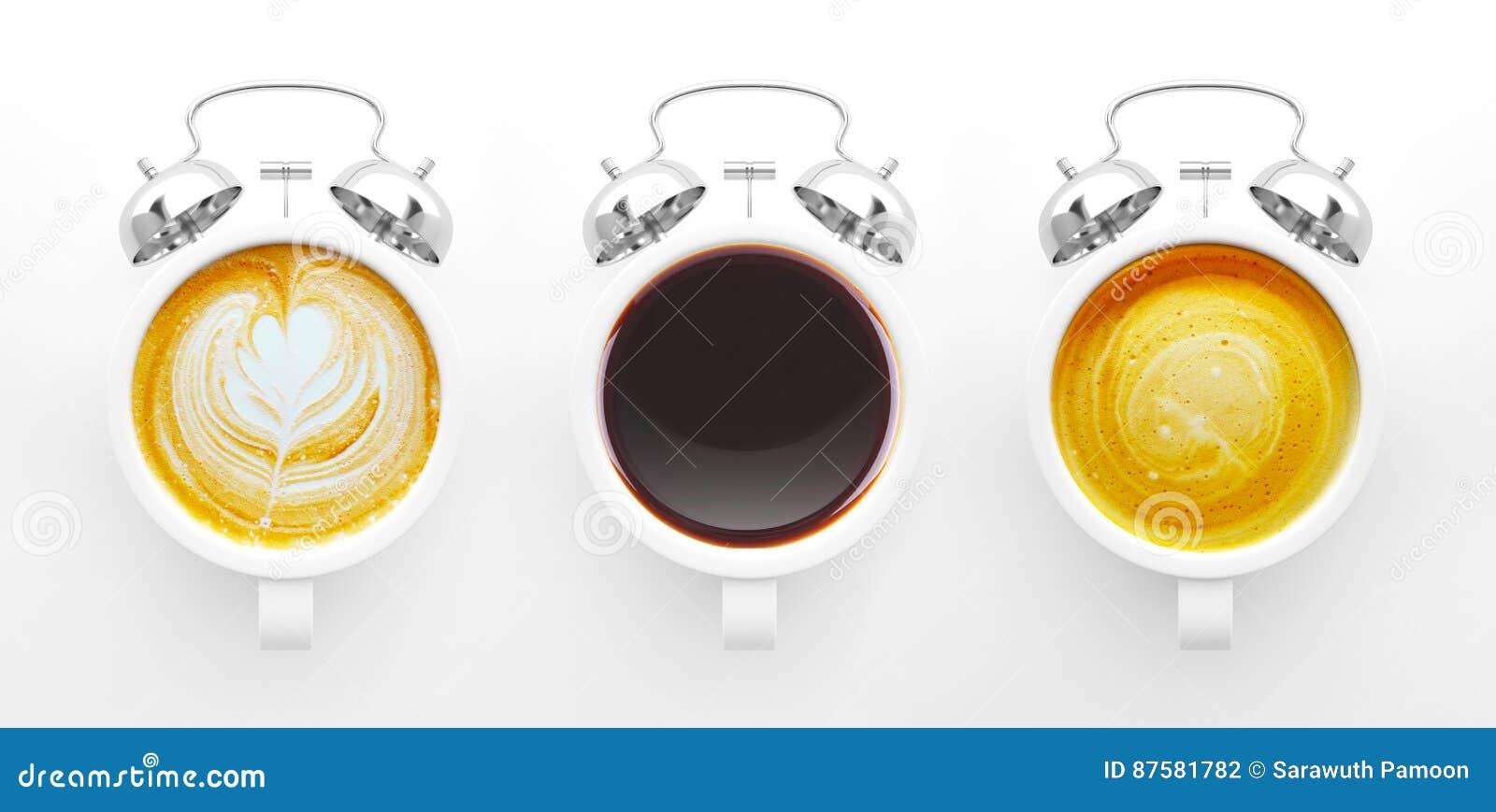 Conceito do tempo do café