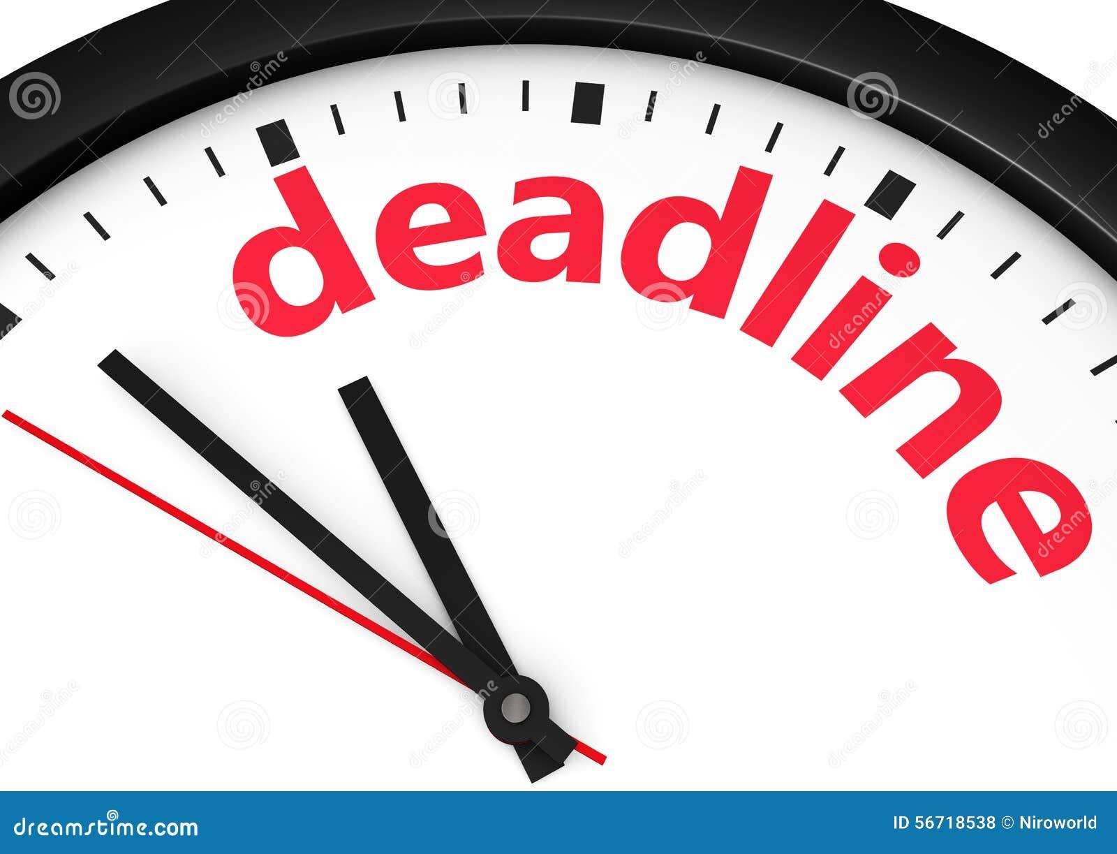 Conceito do tempo do negócio do fim do prazo