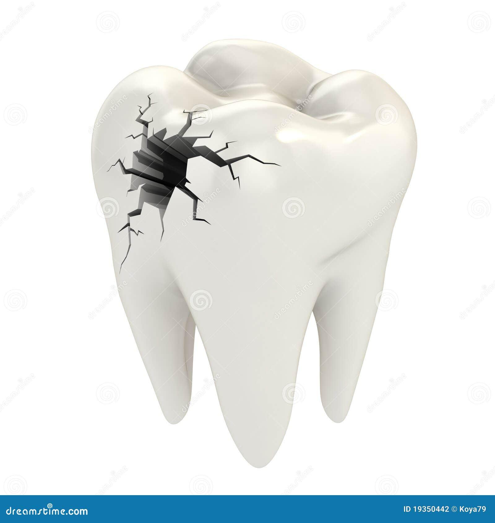 Conceito do Toothache 3d