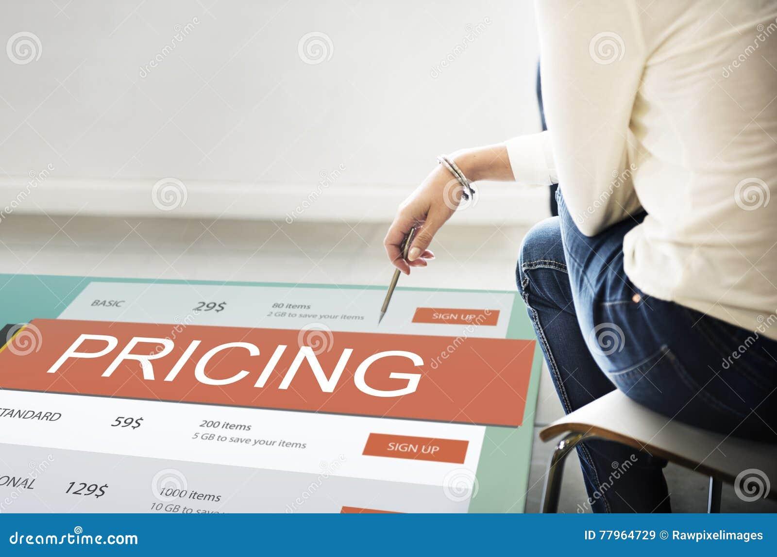 Conceito do valor da promoção do preço da fixação do preço de mercado