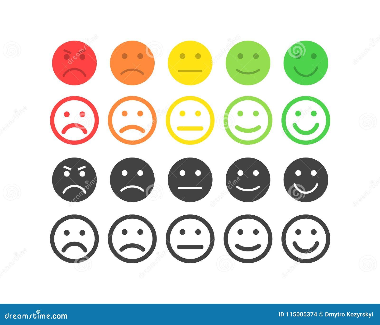 Conceito do vetor do feedback Grau, nível de avaliação de satisfação Terrível excelente, bom, normal, mau Feedback no formulário