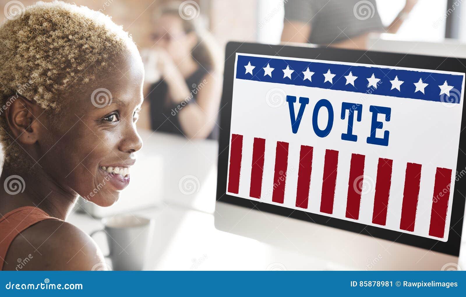 Conceito do voto da democracia do referendo do governo da política