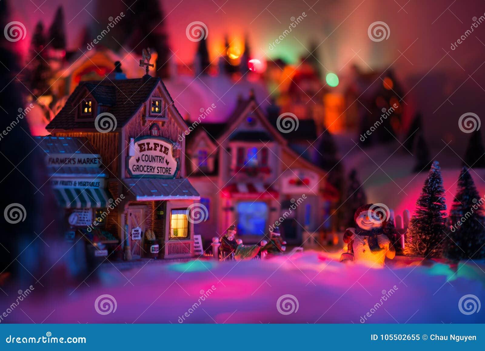 Conceito dos feriados do cenário diminuto em tempos do Natal
