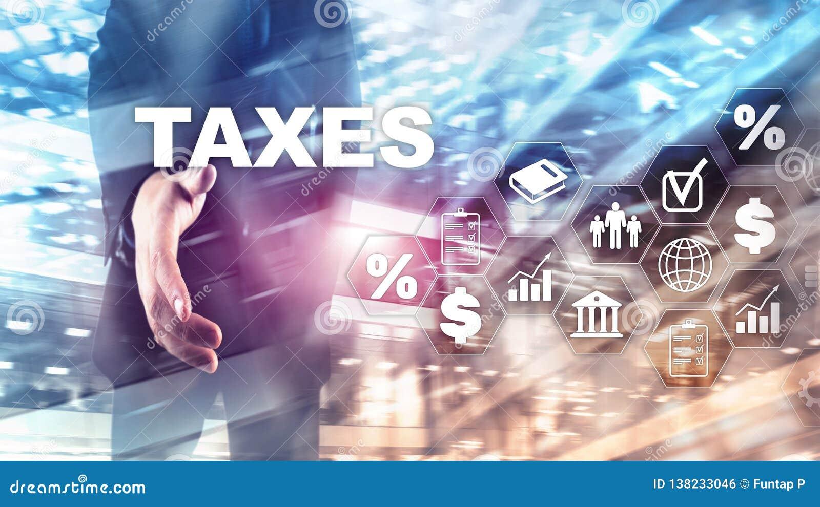 Conceito dos impostos pagos por indivíduos e por corporaçõs tais como o imposto da cuba, da renda e de riqueza Pagamento de impos