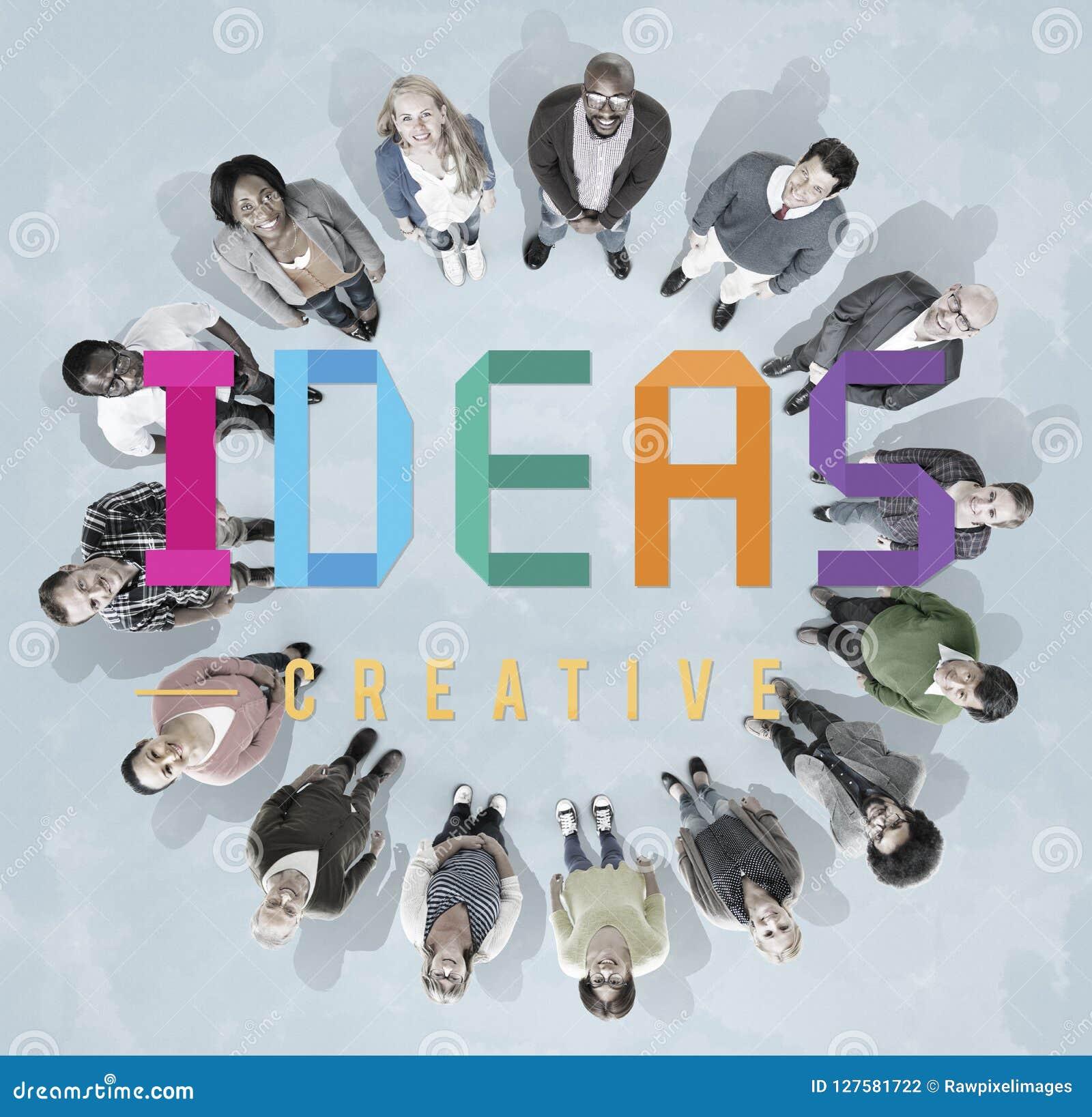 Conceito dos pensamentos da estratégia da visão do projeto de plano das ideias