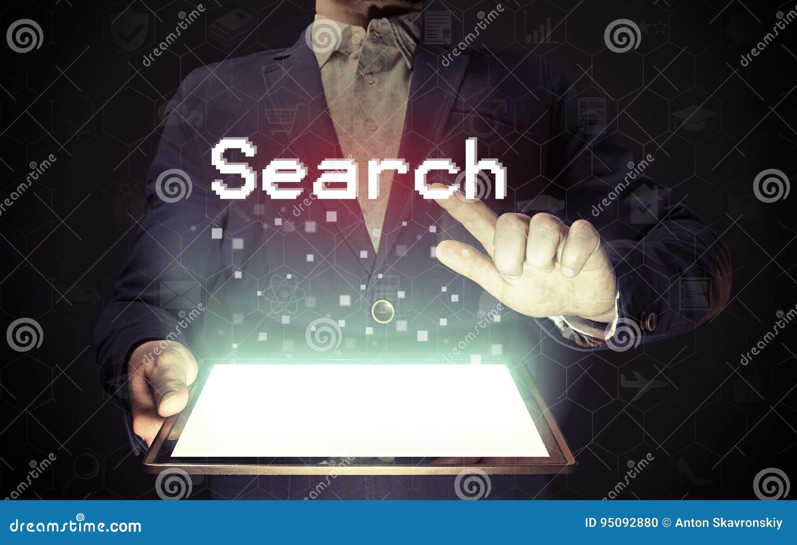 Conceito em linha da busca