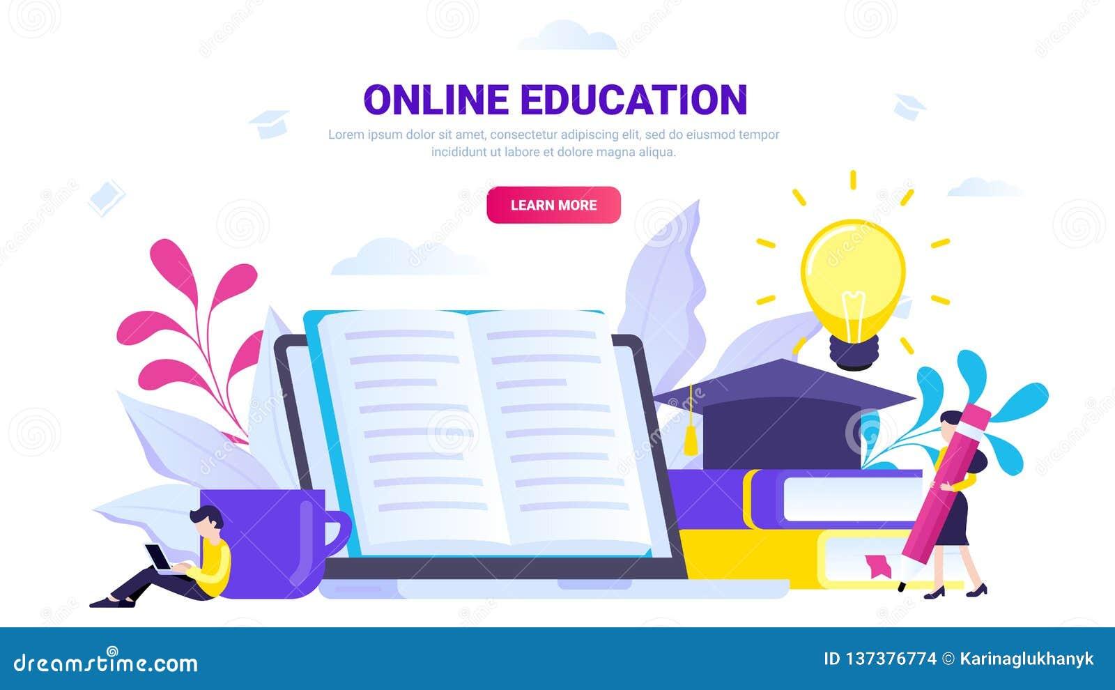 Conceito em linha da educação