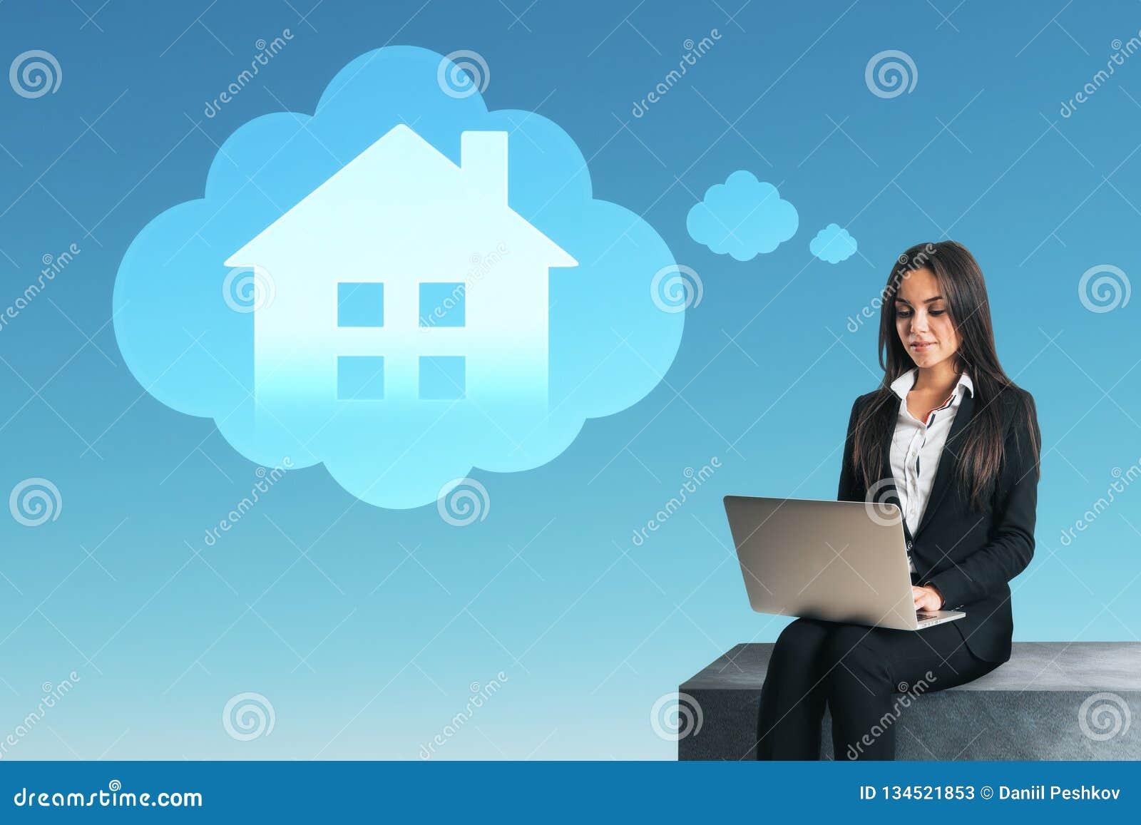 Conceito esperto da casa e do Internet