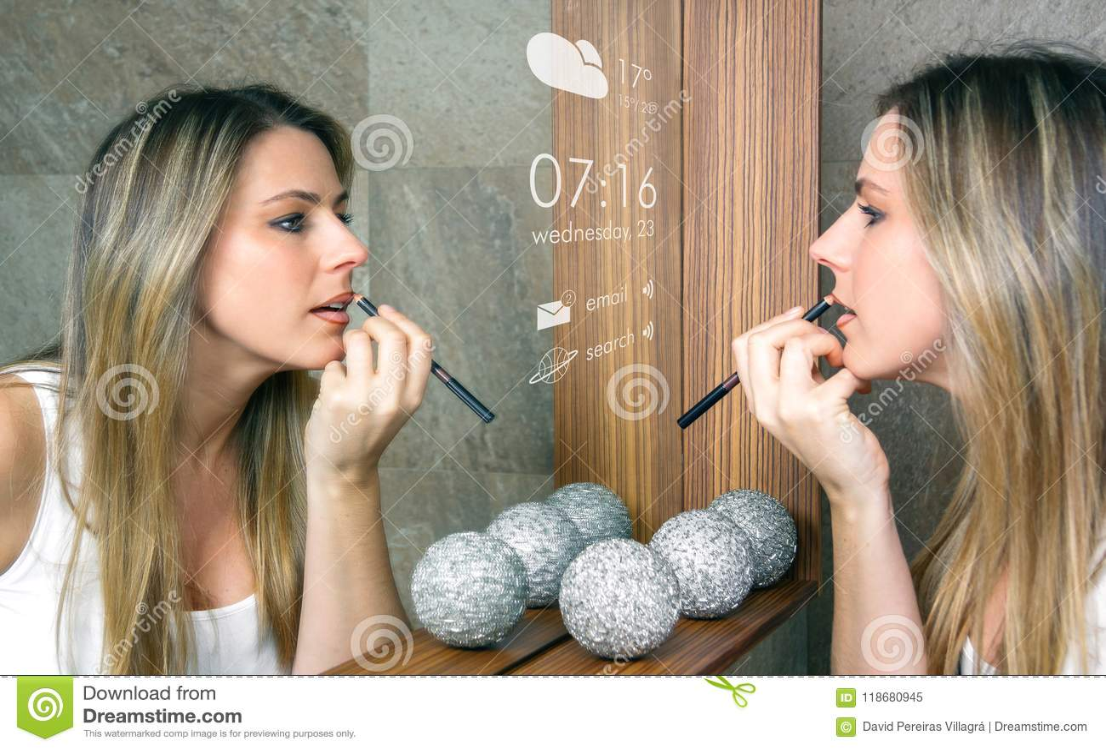 Conceito esperto do espelho