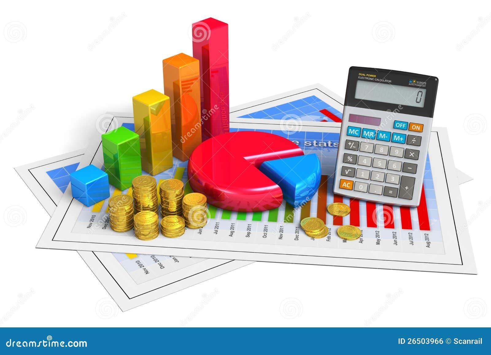 Conceito financeiro do analytics do negócio