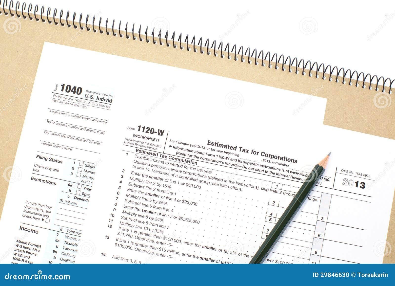 Formulário de imposto