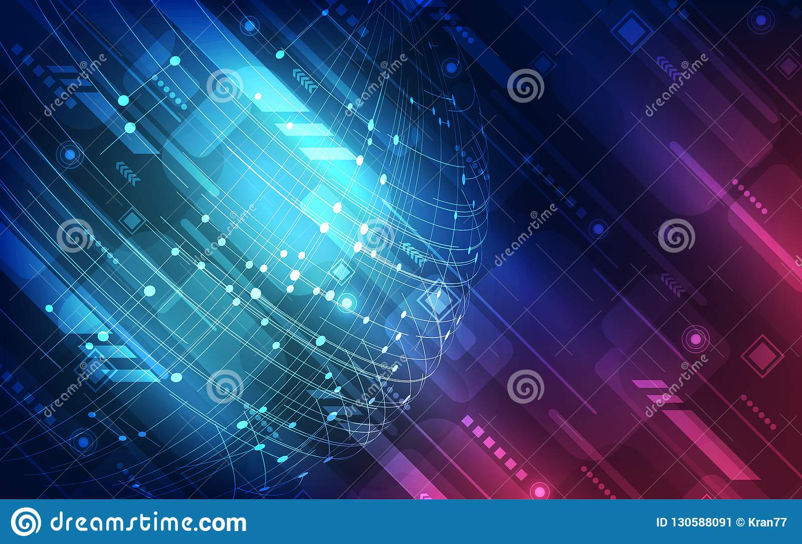 Conceito global de alta velocidade digital da tecnologia do vetor, fundo abstrato