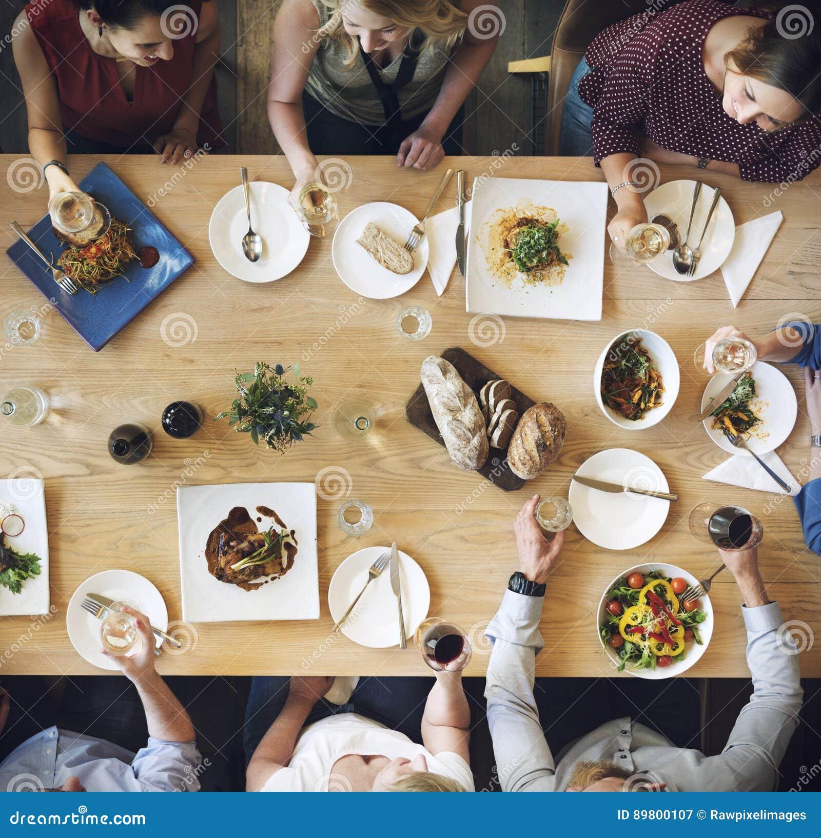 Conceito gourmet culinário do partido da culinária da restauração do alimento