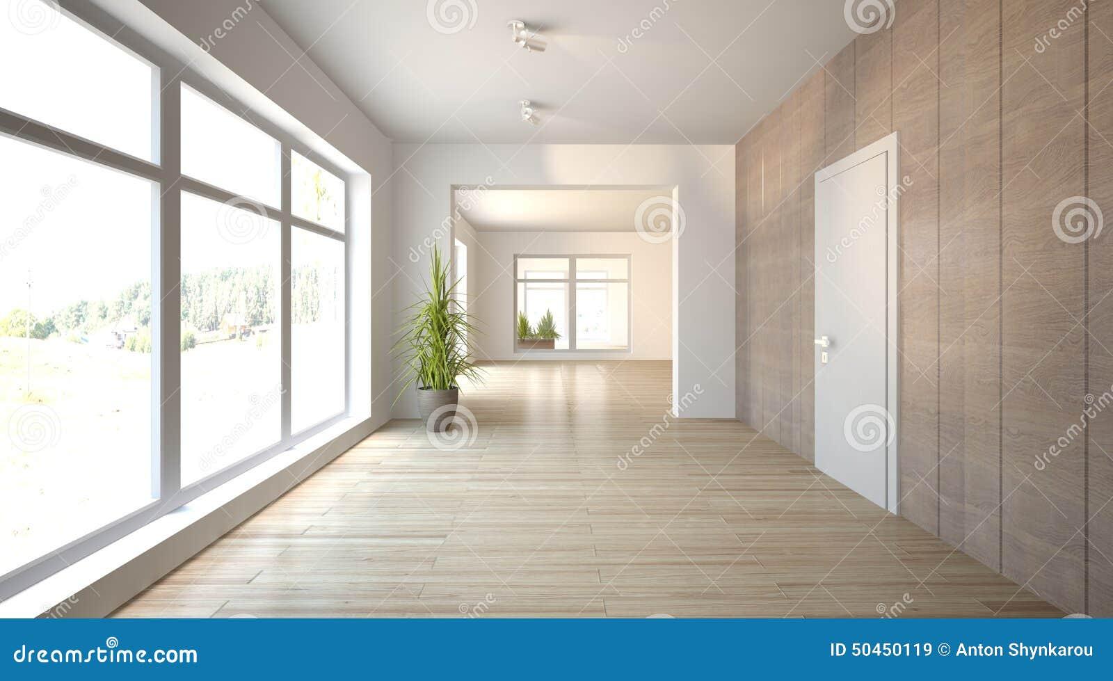 Conceito interior branco para a sala de visitas