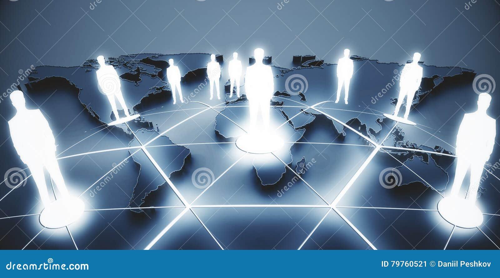 Conceito internacional do negócio e da parceria