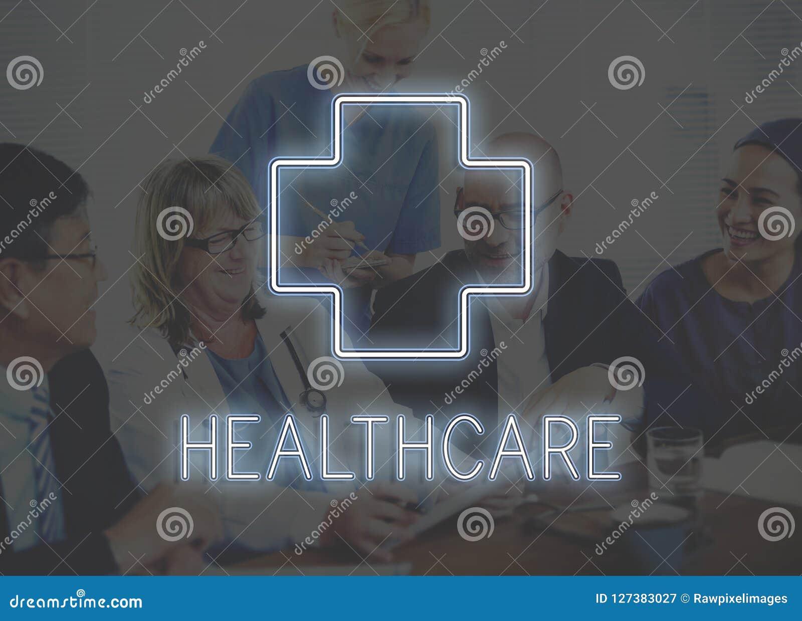 Conceito médico e dos cuidados médicos do ícone do gráfico