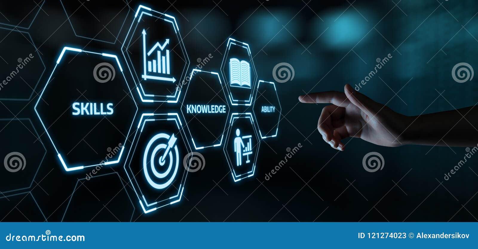 Conceito novo da tecnologia do Internet do negócio do treinamento de Webinar do conhecimento das habilidades