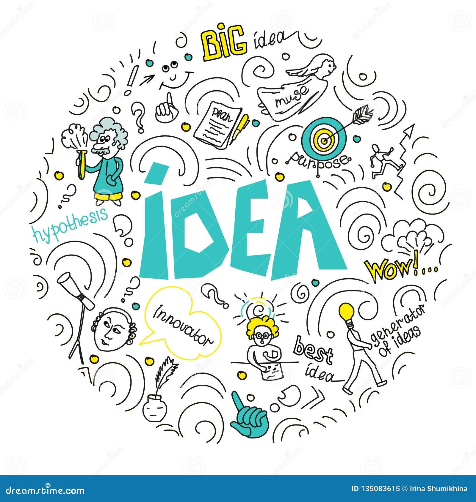 Conceito para o negócio, a finança, a consulta, a gestão, a análise, a estratégia e o planeamento, partida Ideia da ilustração do