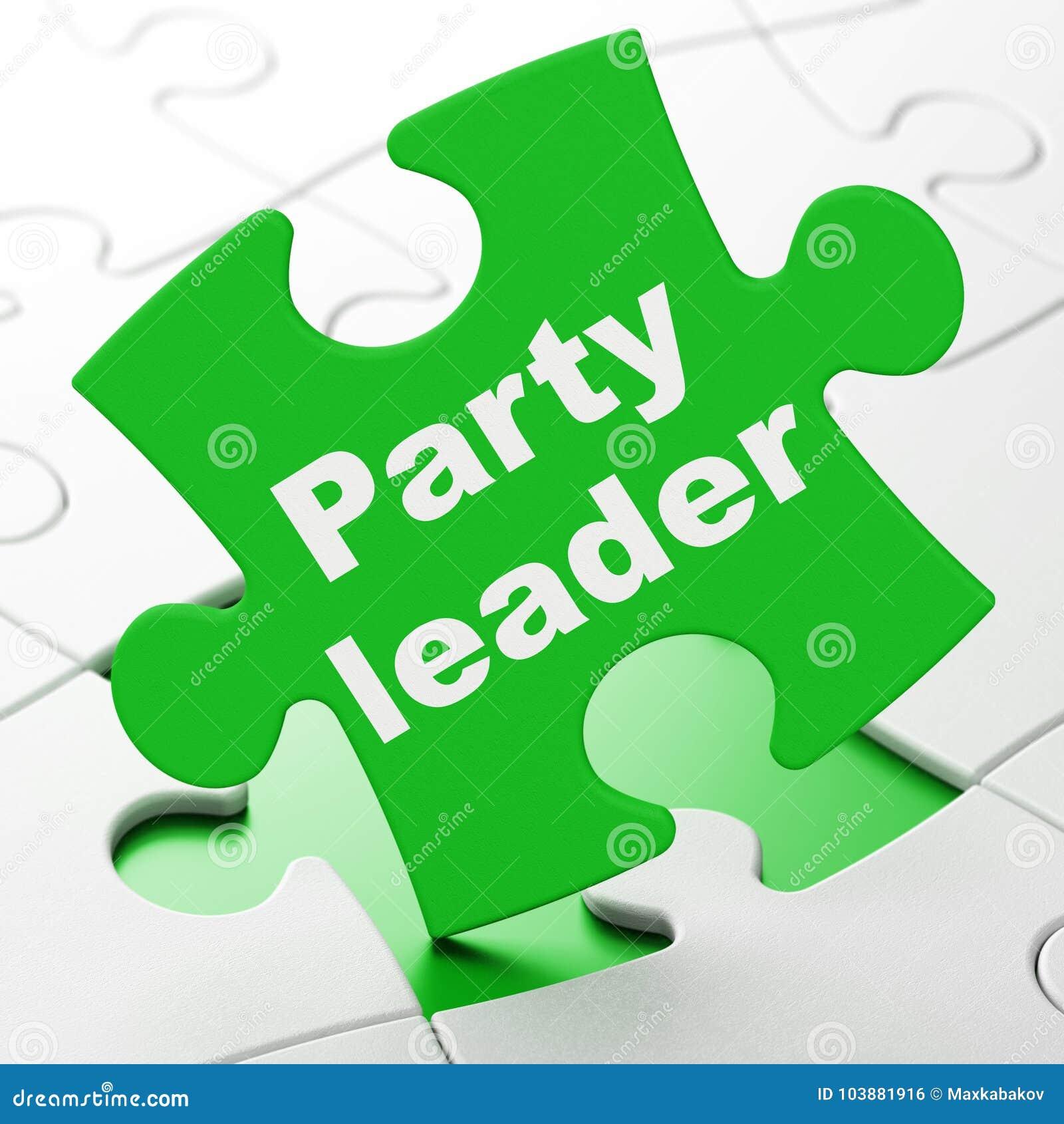 Conceito político: Líder partidário no fundo do enigma