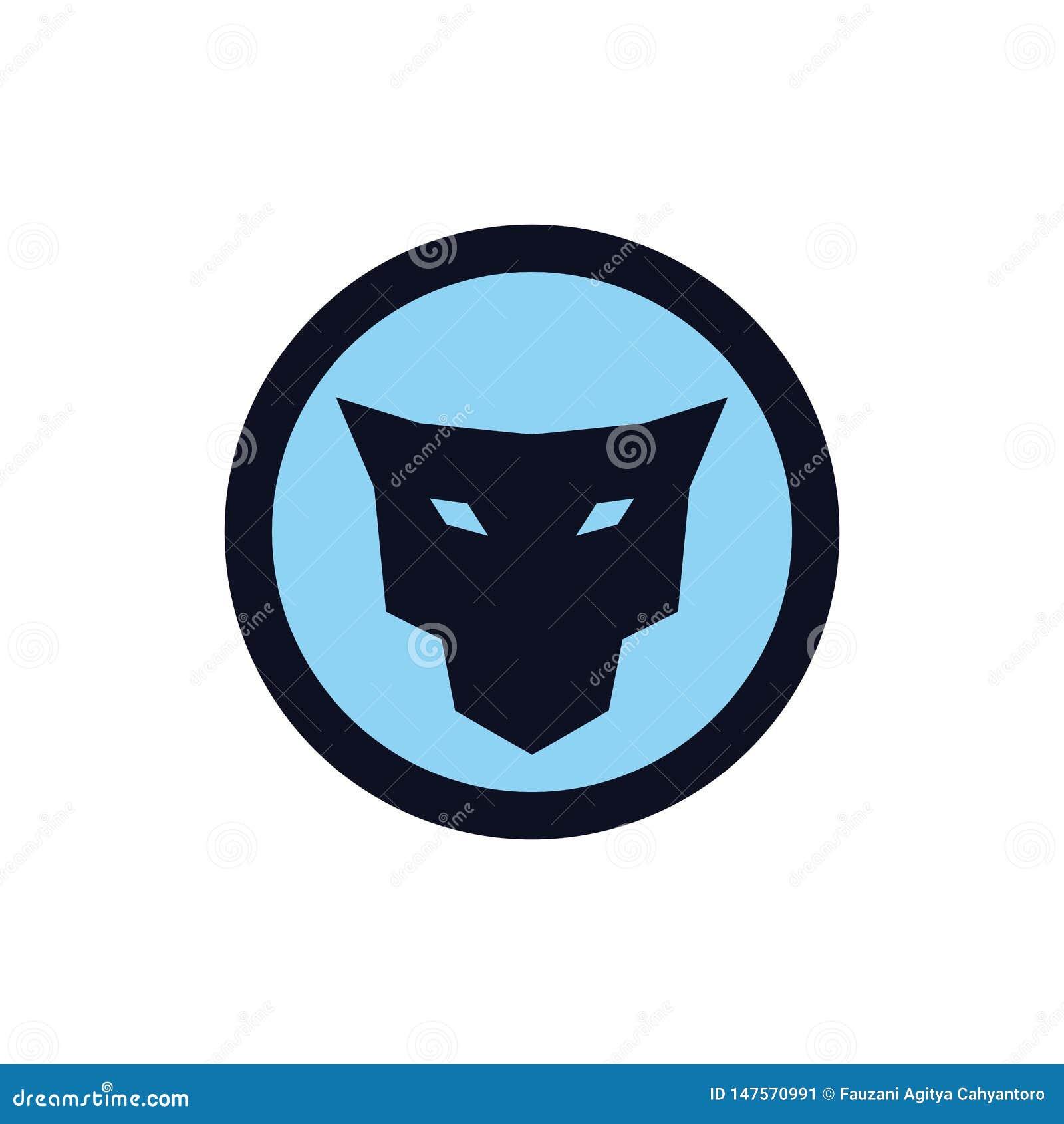 Conceito principal do logotipo do ícone do jaguar