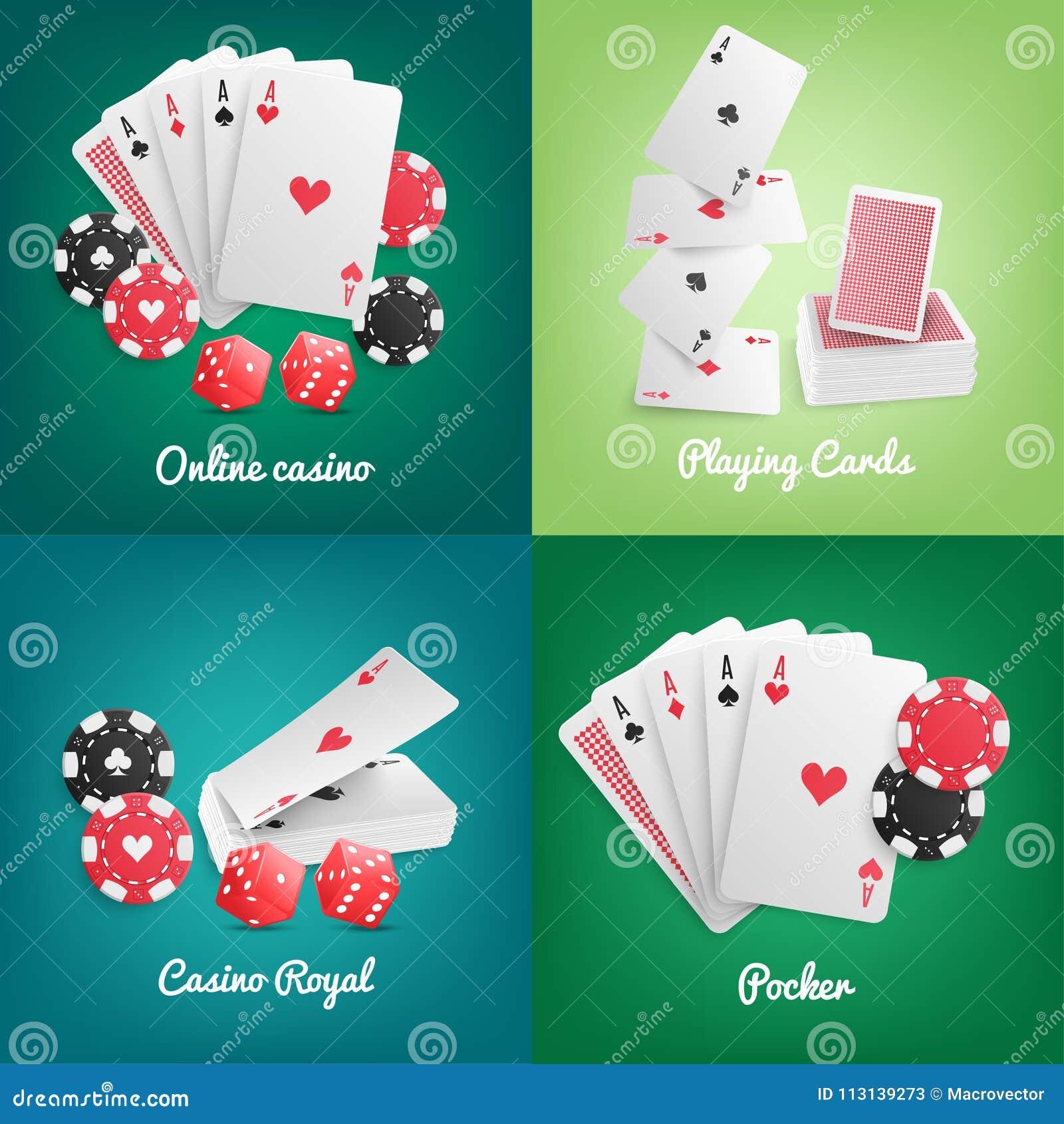 Conceito realístico em linha do casino