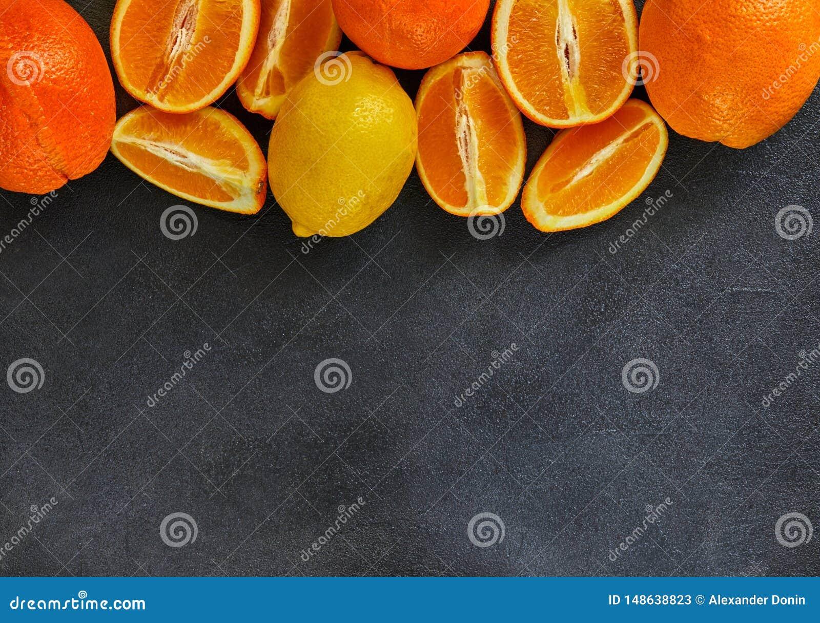 Conceito saud?vel comer, citrinas frescas