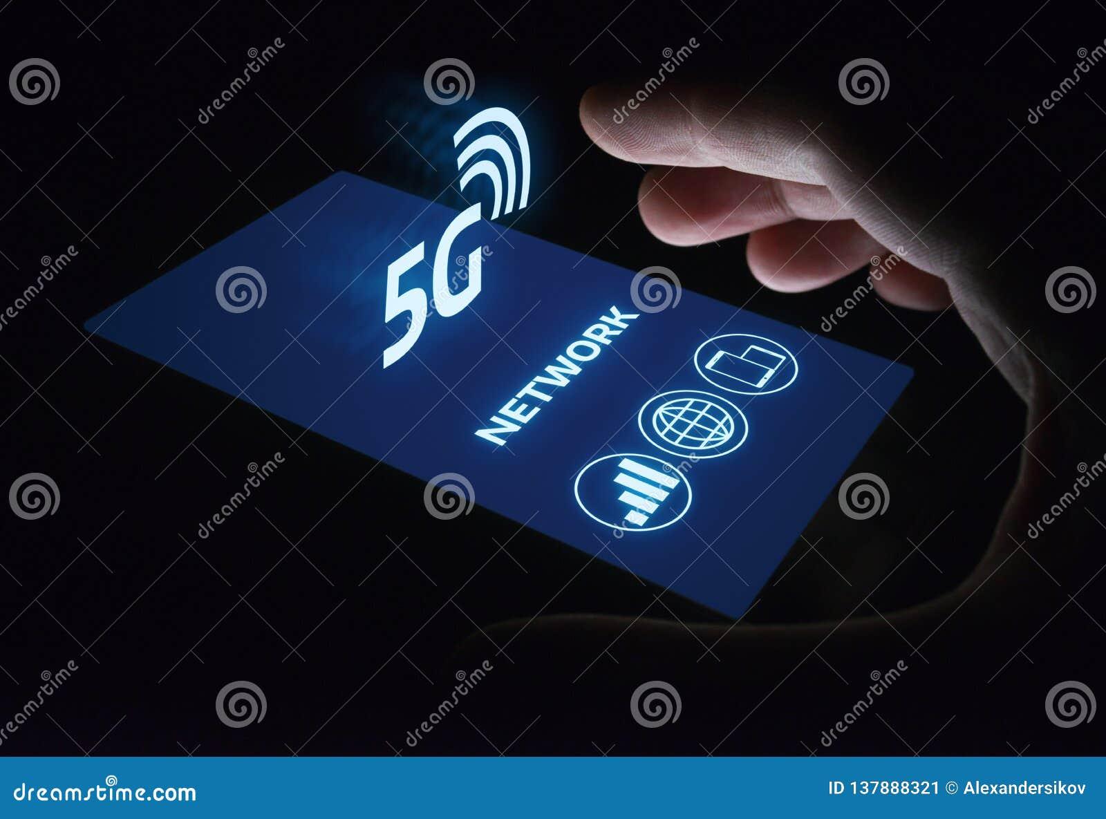 Conceito sem fio móvel do negócio do Internet da rede 5G