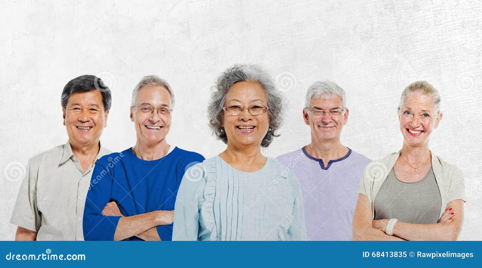 Conceito superior Mullti-étnico do grupo de pessoas