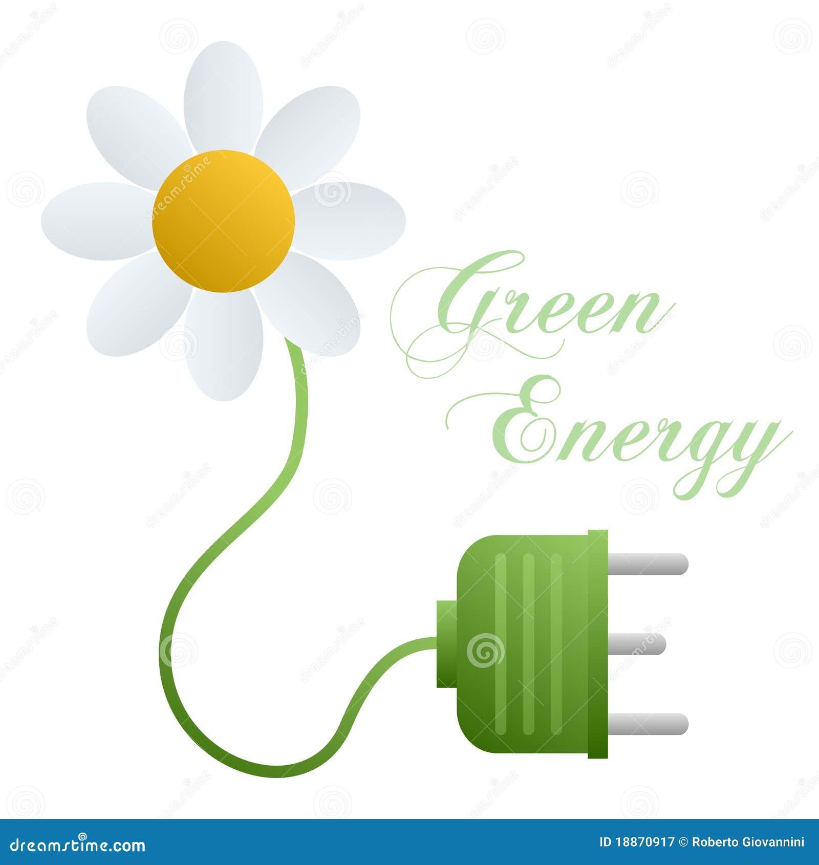 Conceito verde da energia