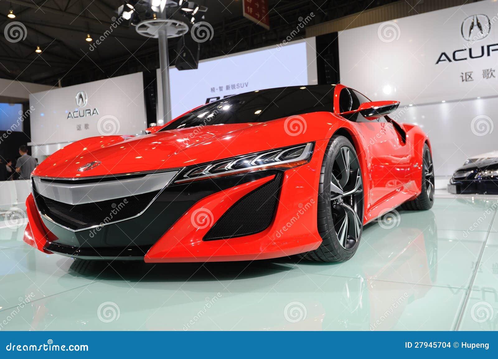 Conceito vermelho de Acura NSX