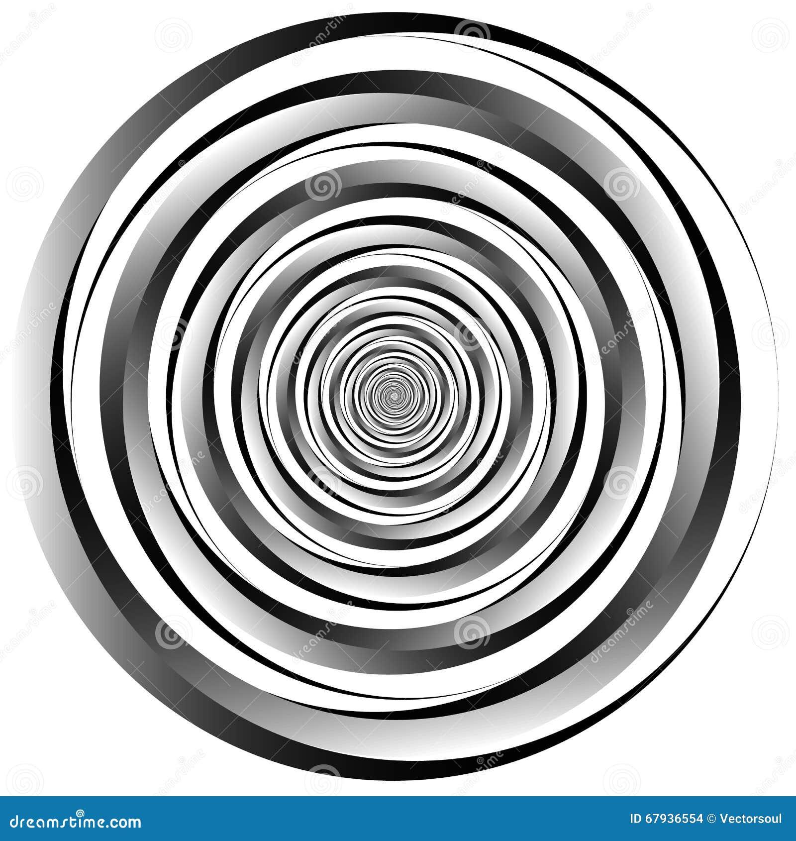 Concentrique - cercles convergents Vortex abstrait, grap se développant en spirales