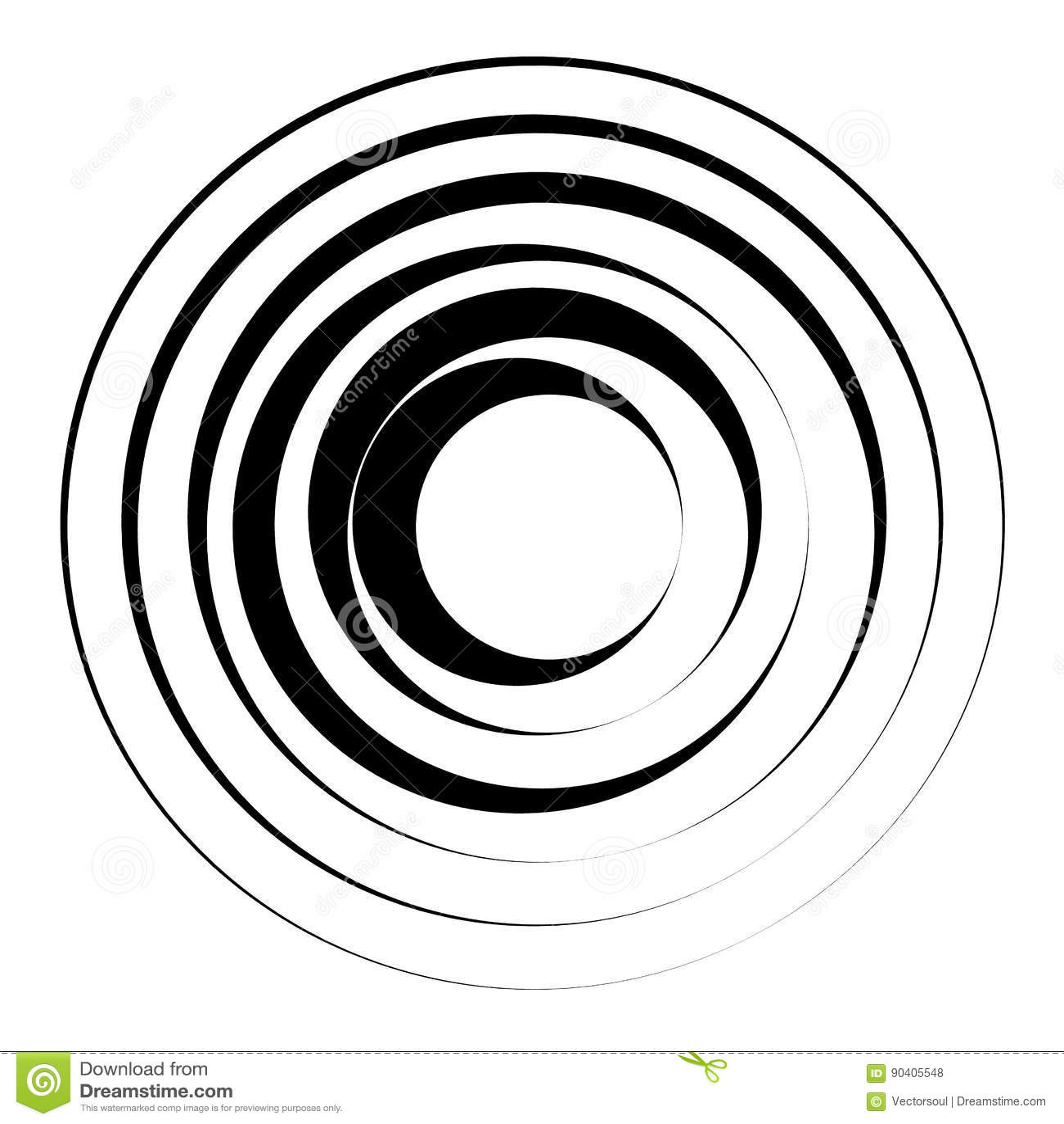 Concentrisch cirkels geometrisch element Radiaal, uitstralend rondschrijven