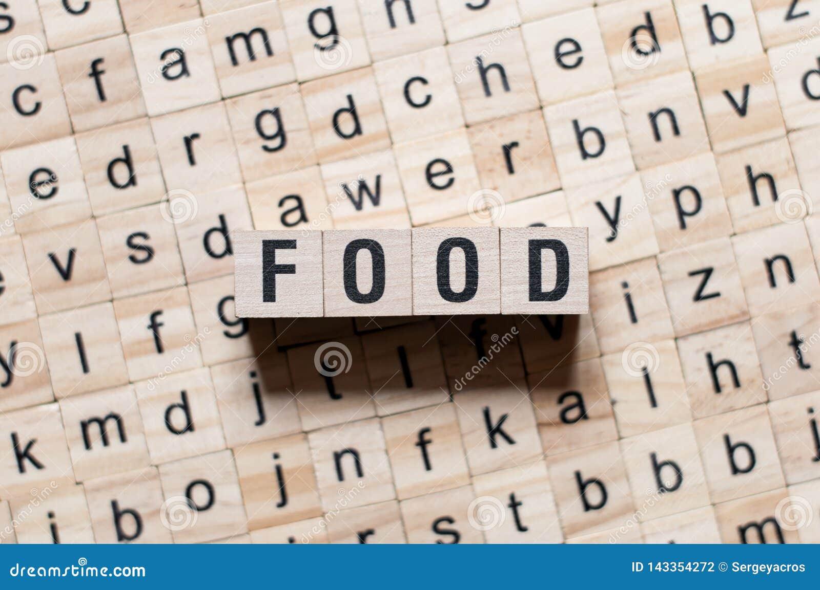 Conceot de la palabra de la comida