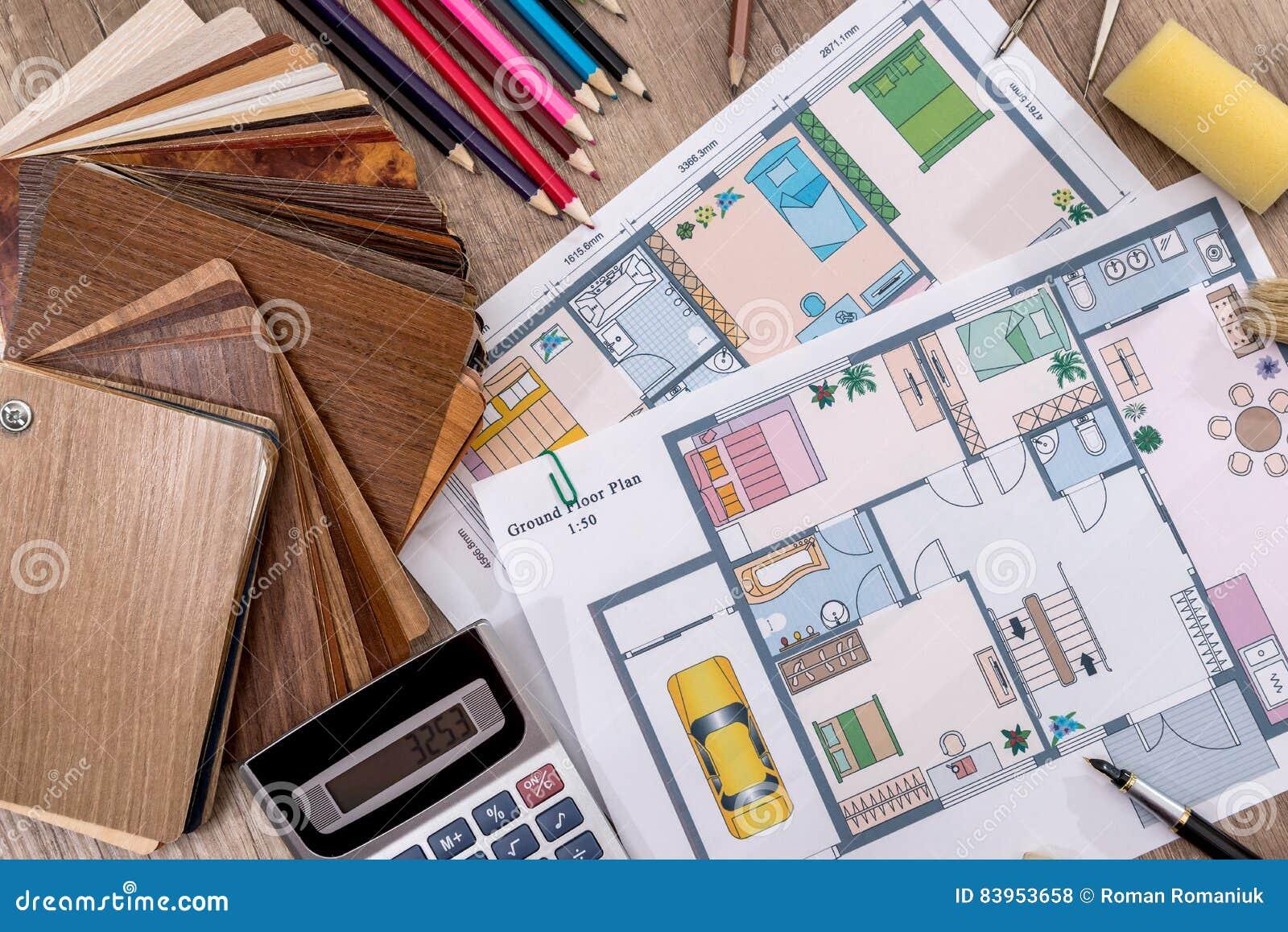Concep o arquitet nica da casa com ferramentas e cat logo for Catalogo mobilia