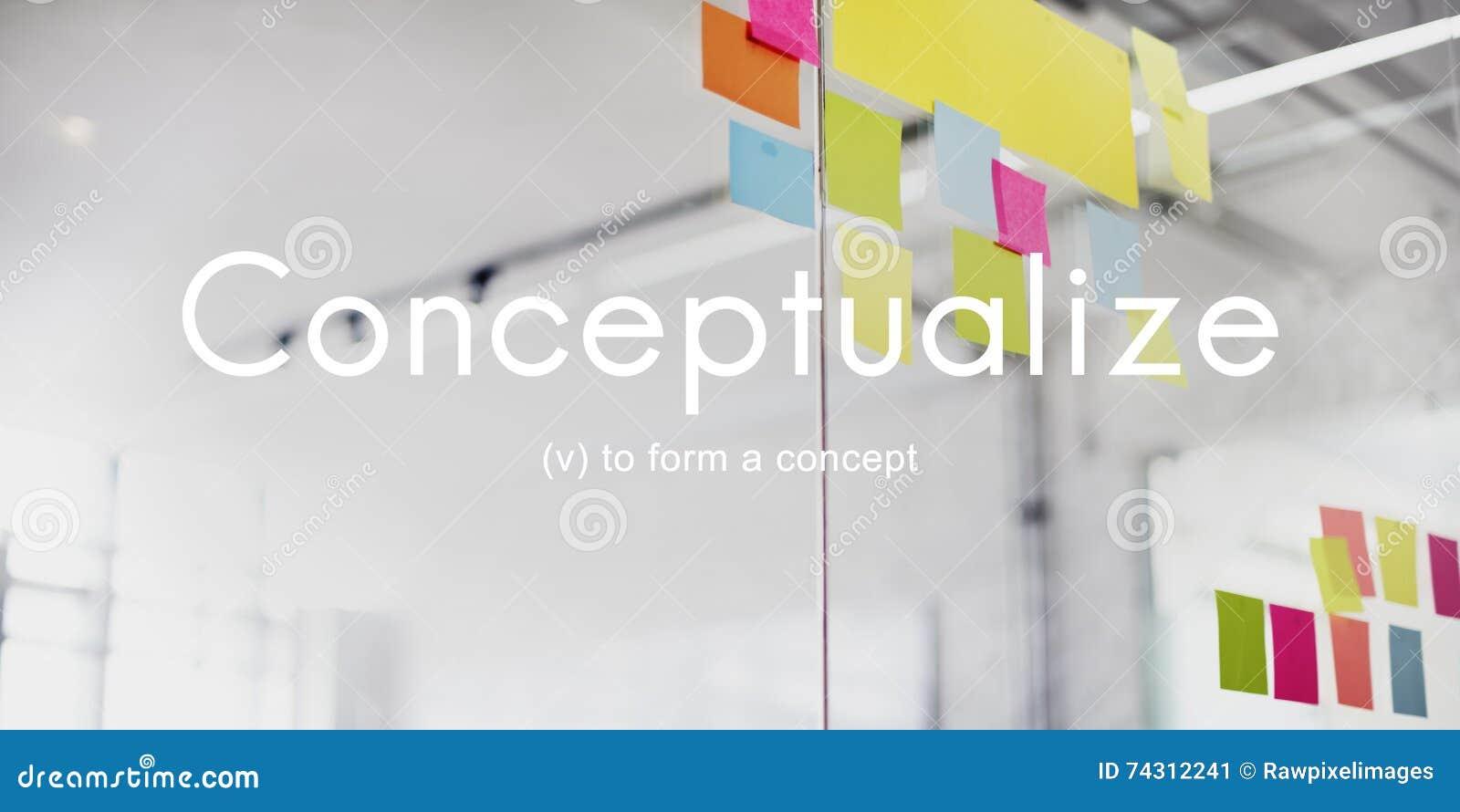 Conceptúe el concepto creativo del plan del extracto de la noción de las ideas