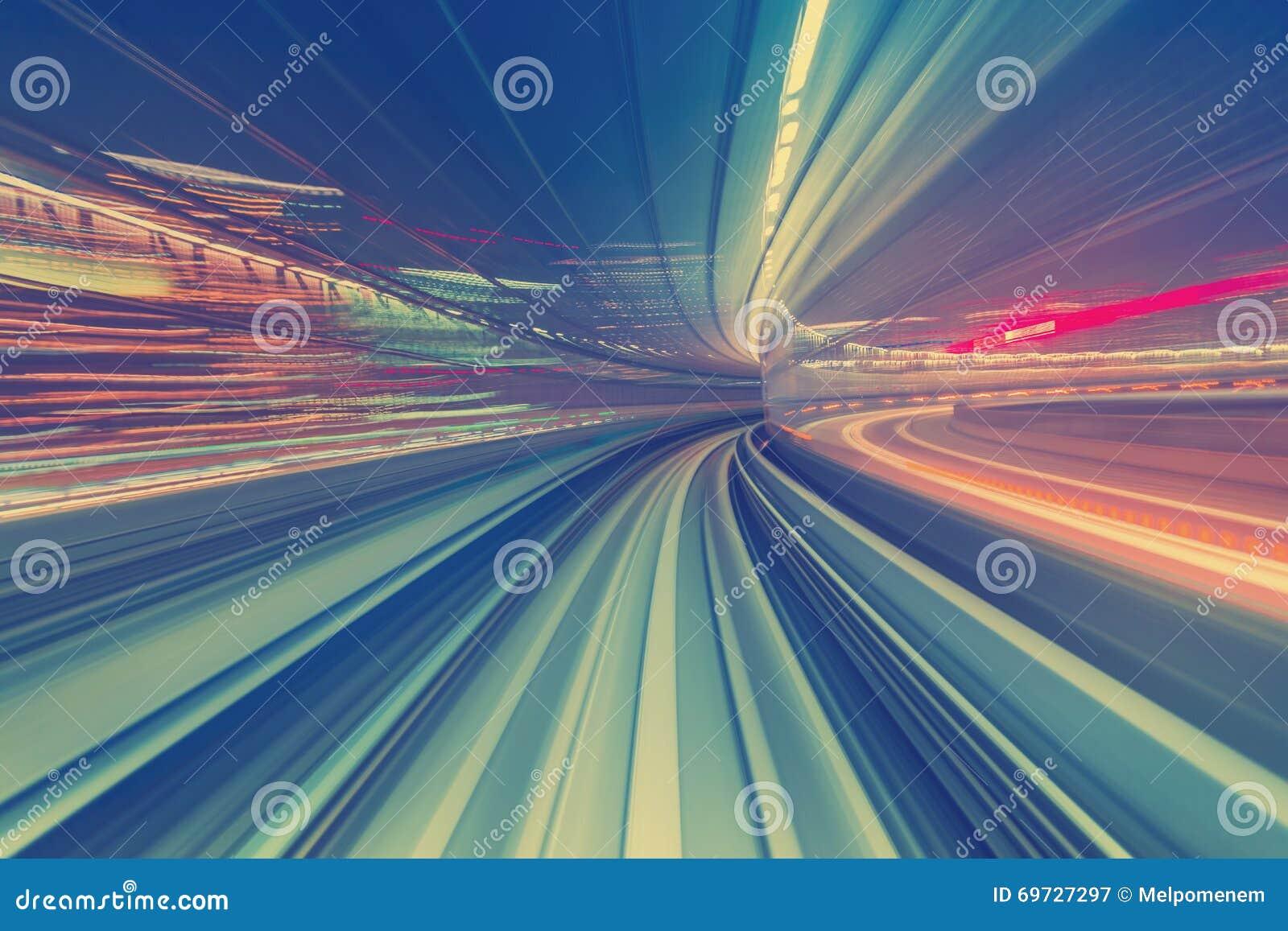 Concept à grande vitesse de technologie par l intermédiaire d un monorail de Tokyo