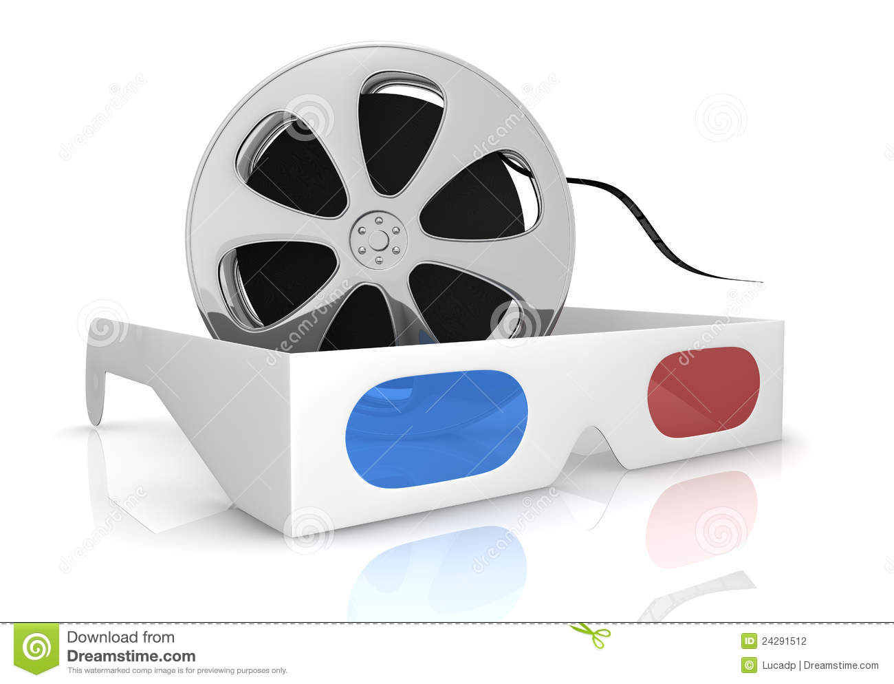 concept of 3d movie technology stock photography image