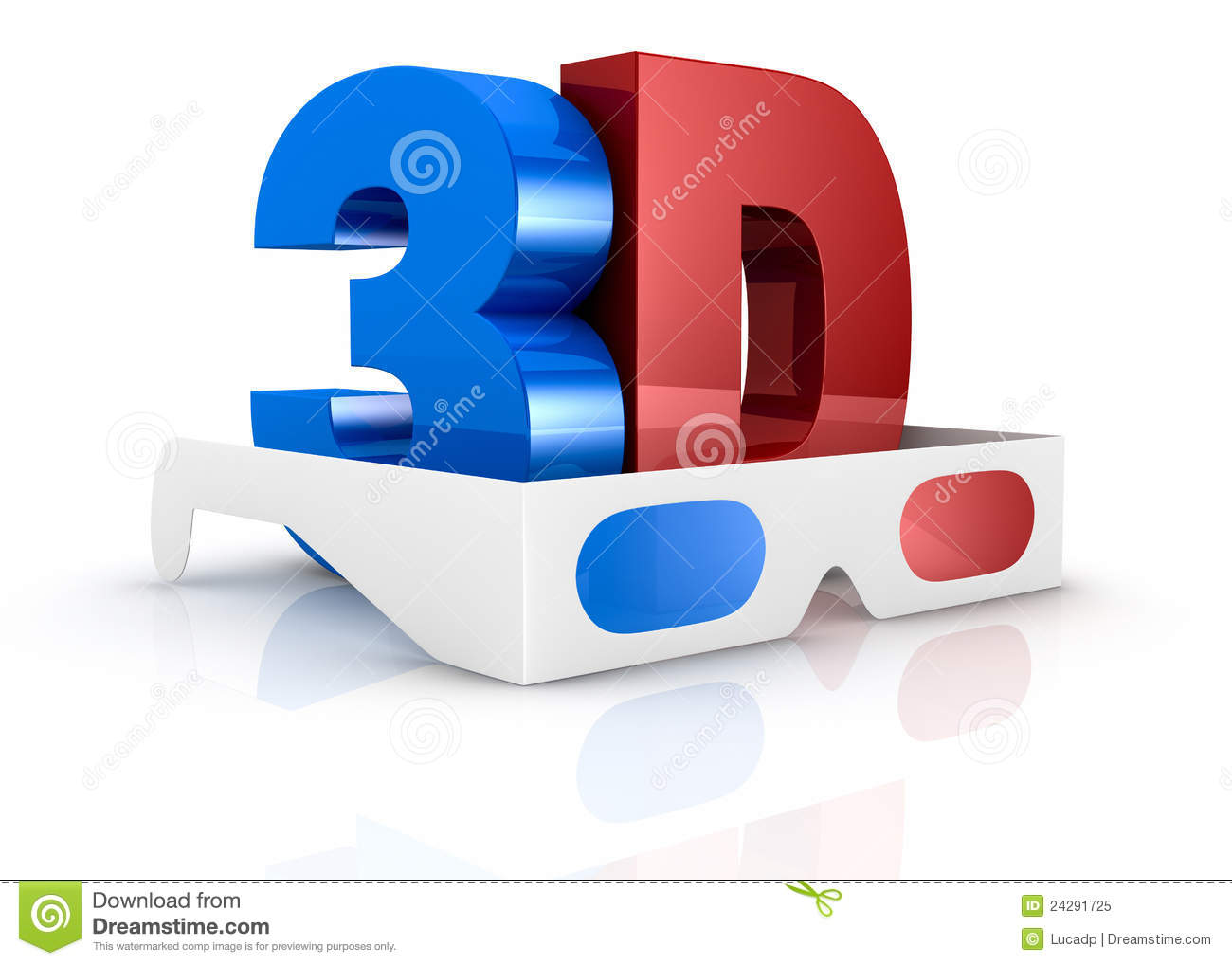 concept of 3d movie technology stock illustration