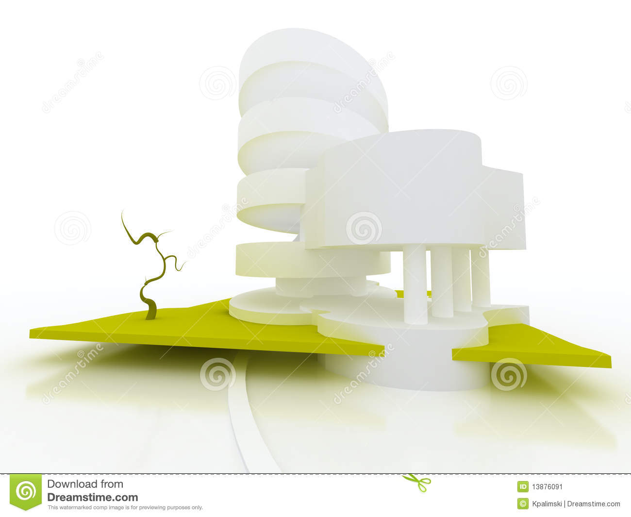 Concept Abstract Building Architecture Stock Image