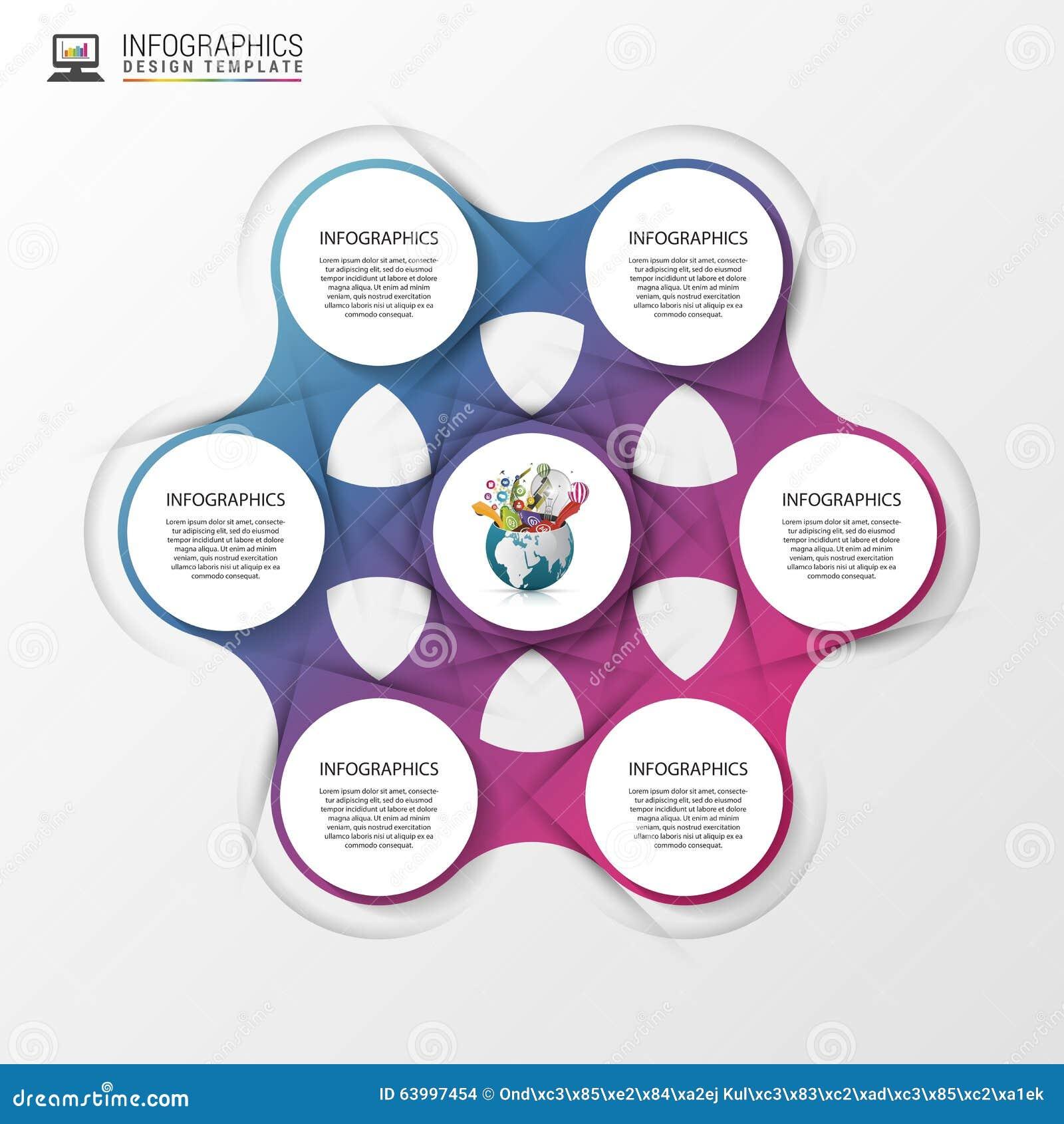 Concept abstrait d infographics descripteur moderne de conception Illustration de vecteur